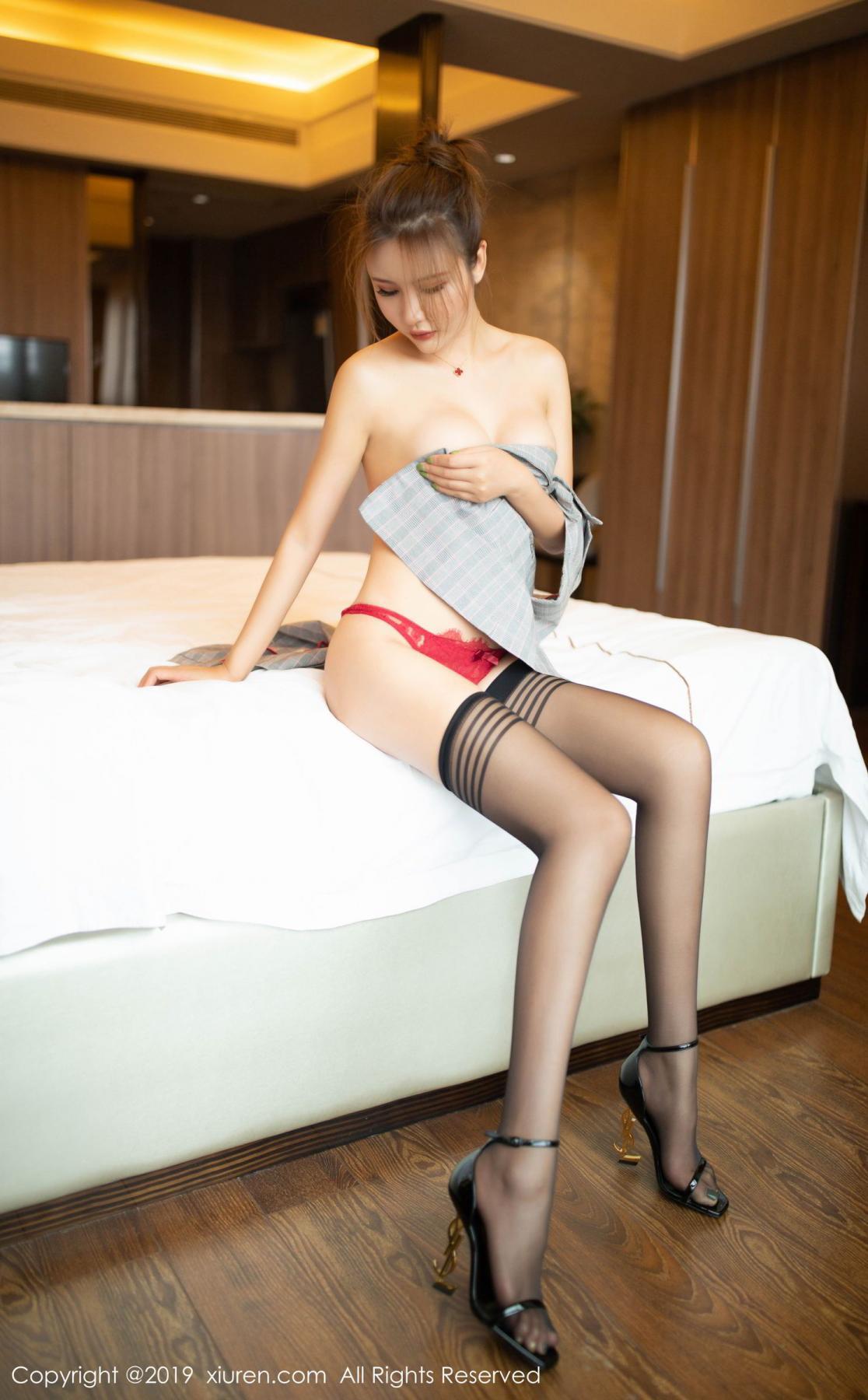 [XiuRen] Vol.1605 Solo Yi Fei 59P, Black Silk, Solo Yi Fei, Underwear, Xiuren