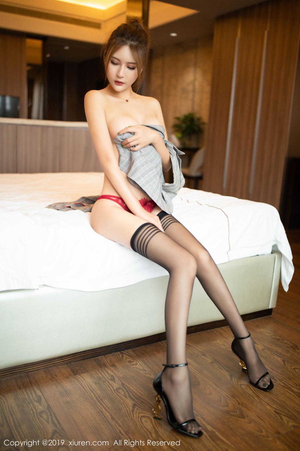 [XiuRen] Vol.1605 Solo Yi Fei 60P, Black Silk, Solo Yi Fei, Underwear, Xiuren