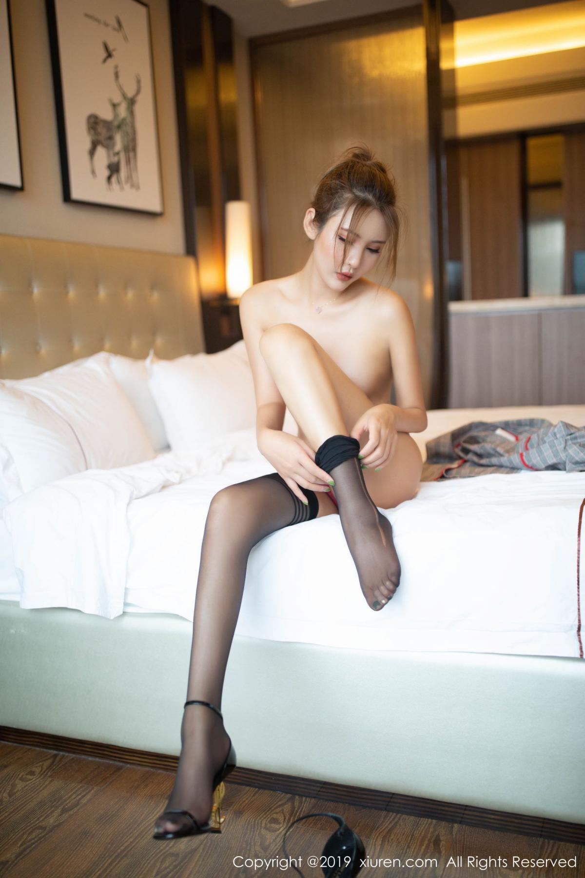[XiuRen] Vol.1605 Solo Yi Fei 68P, Black Silk, Solo Yi Fei, Underwear, Xiuren
