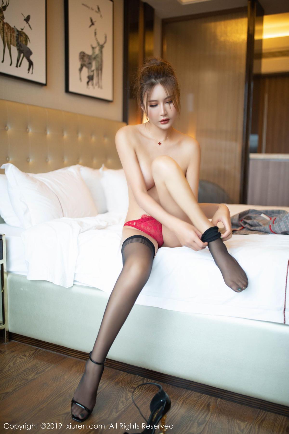 [XiuRen] Vol.1605 Solo Yi Fei 69P, Black Silk, Solo Yi Fei, Underwear, Xiuren