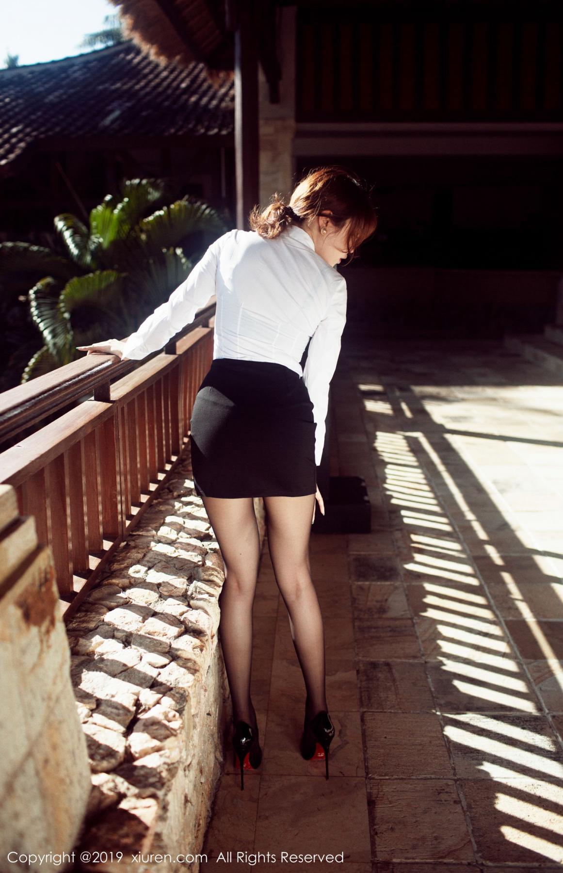 [XiuRen] Vol.1606 Huang Le Ran 10P, Black Silk, Huang Le Ran, Tall, Xiuren