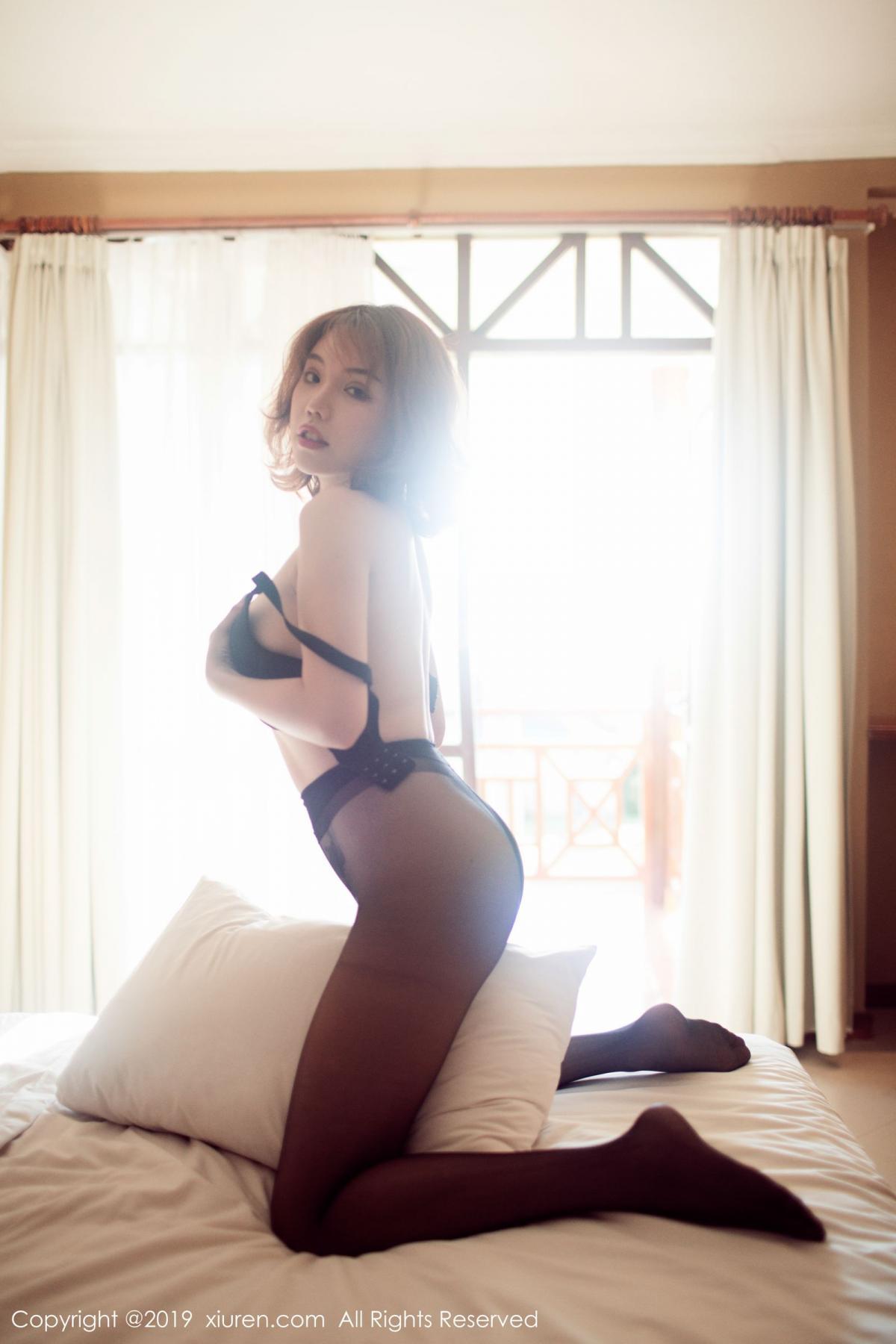 [XiuRen] Vol.1606 Huang Le Ran 49P, Black Silk, Huang Le Ran, Tall, Xiuren