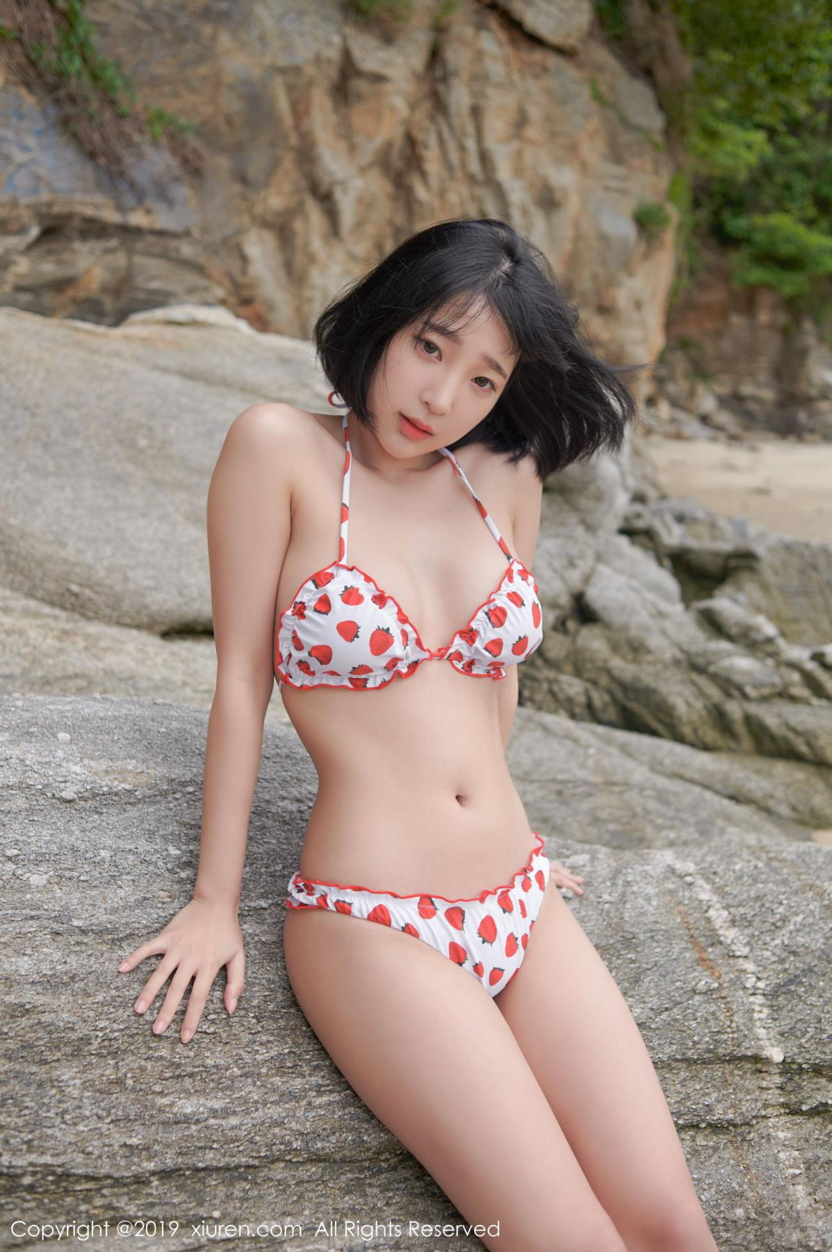 [XiuRen] Vol.1611 Model Qing Qing 20P, Beach, Bikini, Kang In Kyung, Xiuren