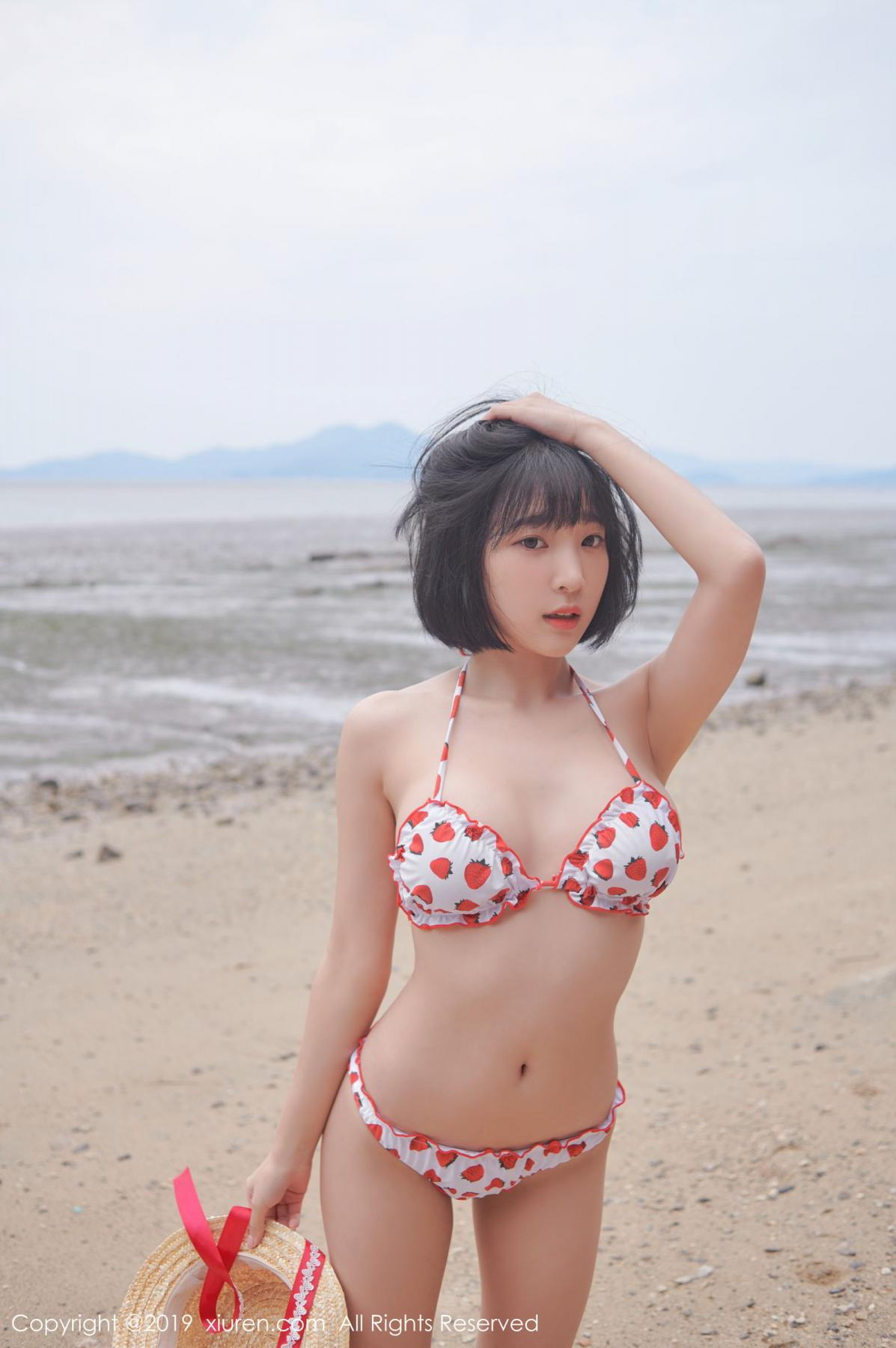 [XiuRen] Vol.1611 Model Qing Qing 23P, Beach, Bikini, Kang In Kyung, Xiuren