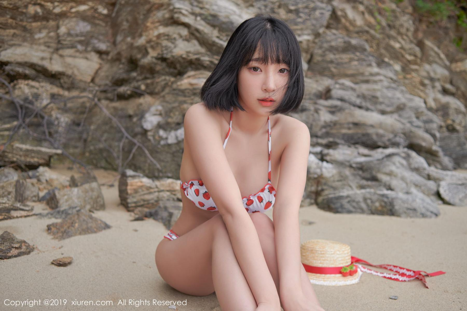 [XiuRen] Vol.1611 Model Qing Qing 31P, Beach, Bikini, Kang In Kyung, Xiuren