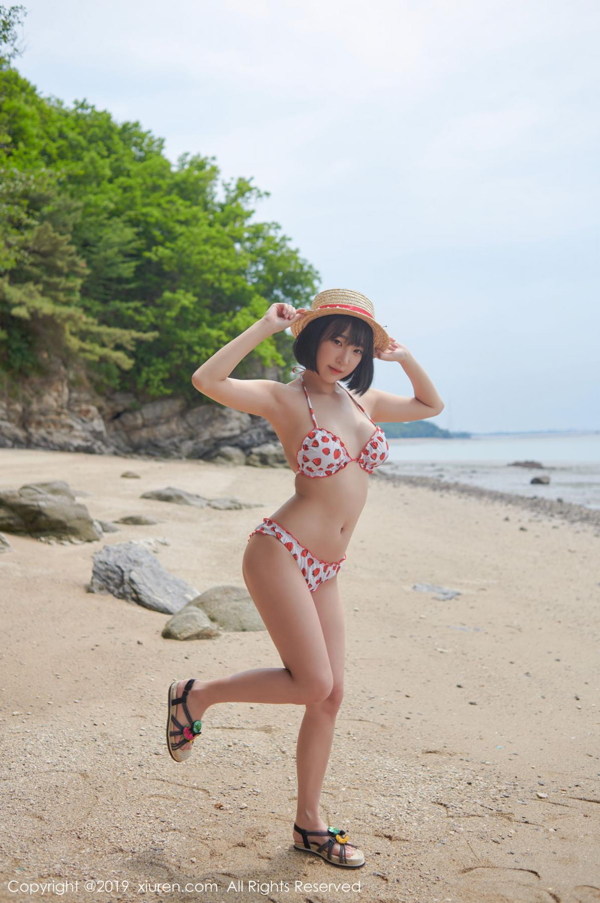 [XiuRen] Vol.1611 Model Qing Qing 4P, Beach, Bikini, Kang In Kyung, Xiuren