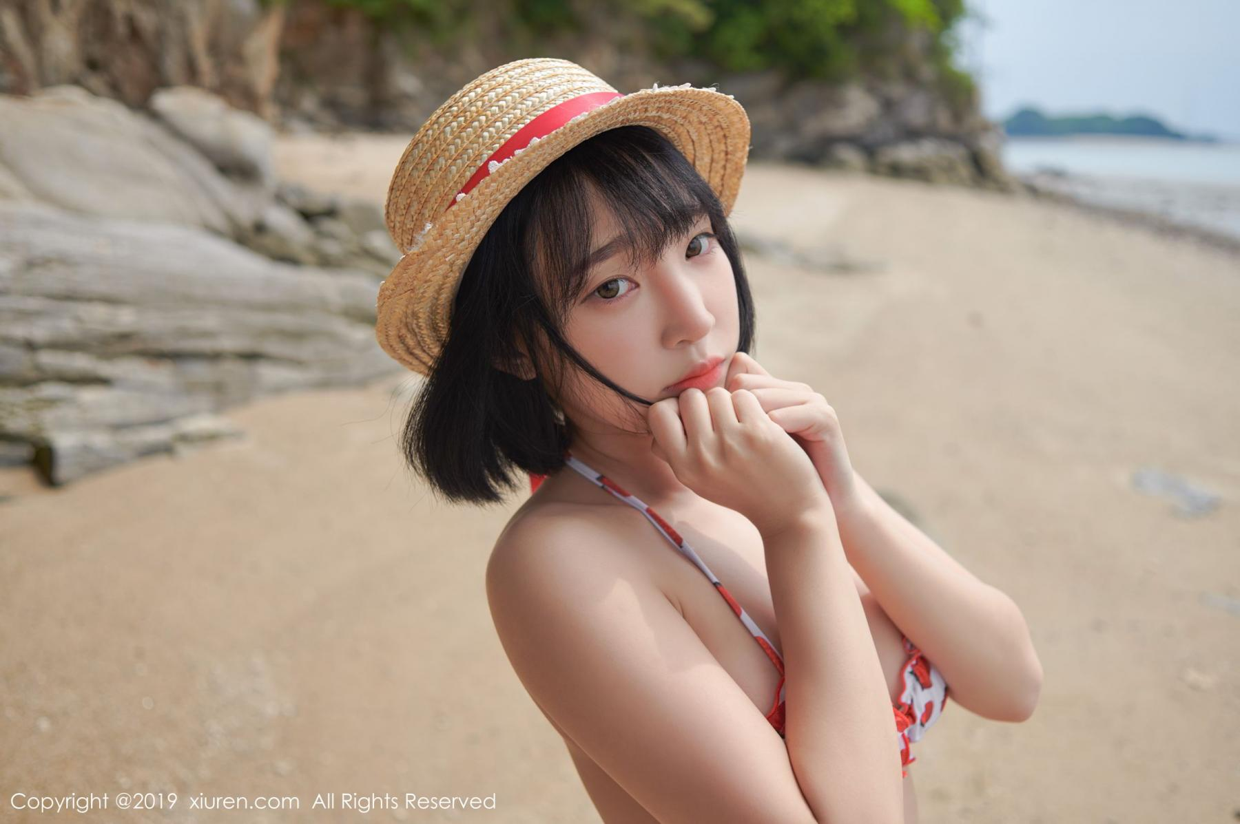 [XiuRen] Vol.1611 Model Qing Qing 5P, Beach, Bikini, Kang In Kyung, Xiuren