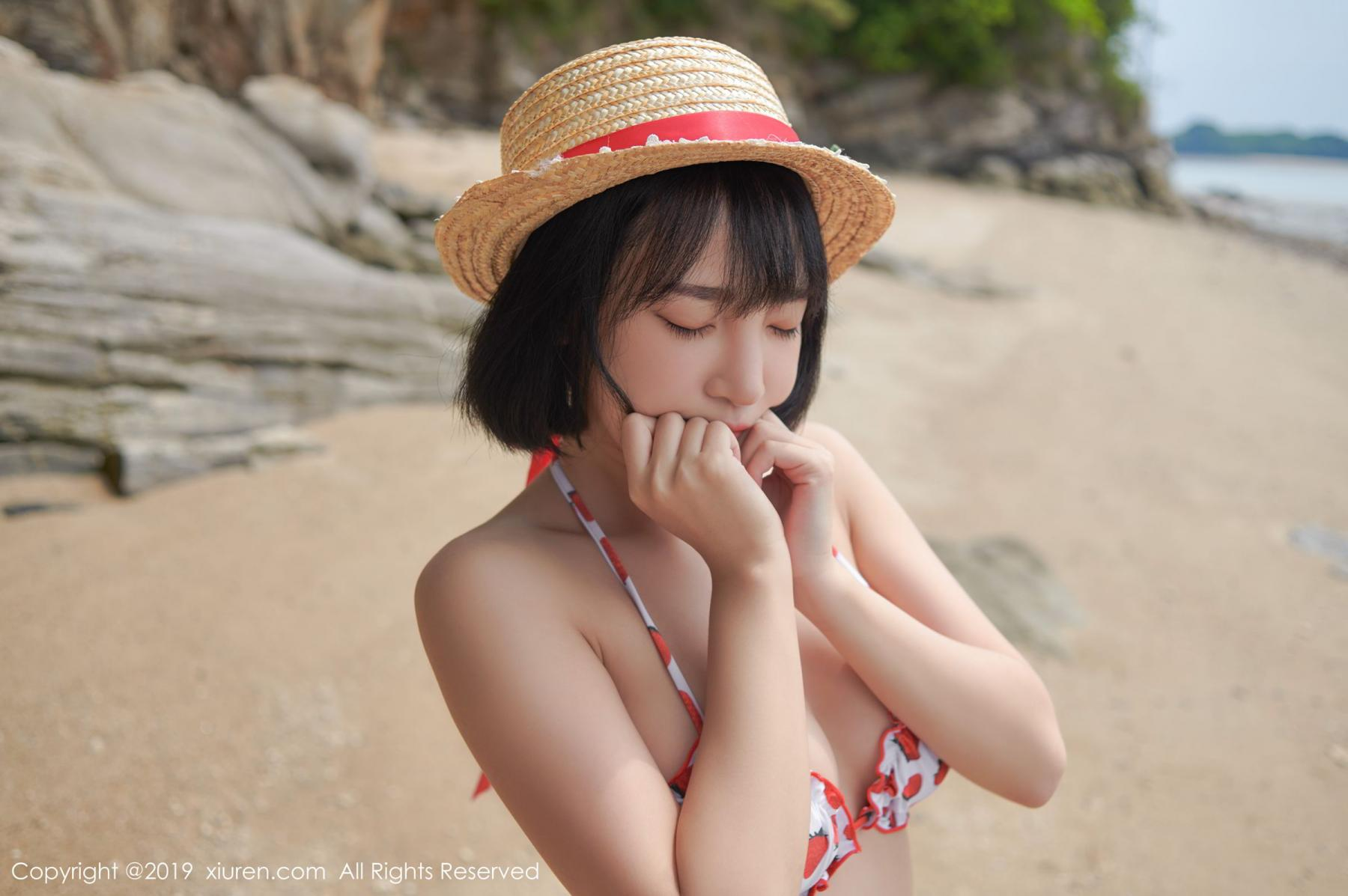 [XiuRen] Vol.1611 Model Qing Qing 6P, Beach, Bikini, Kang In Kyung, Xiuren