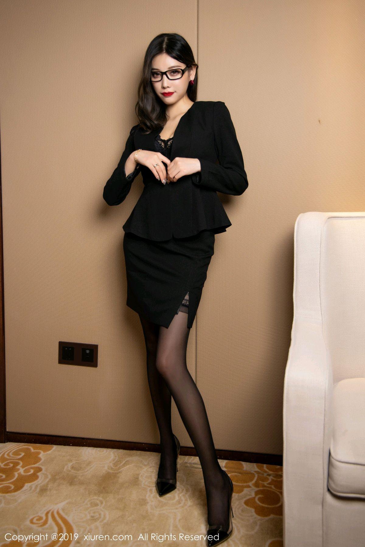 [XiuRen] Vol.1616 Yang Chen Chen 21P, Black Silk, Tall, Uniform, Xiuren, Yang Chen Chen
