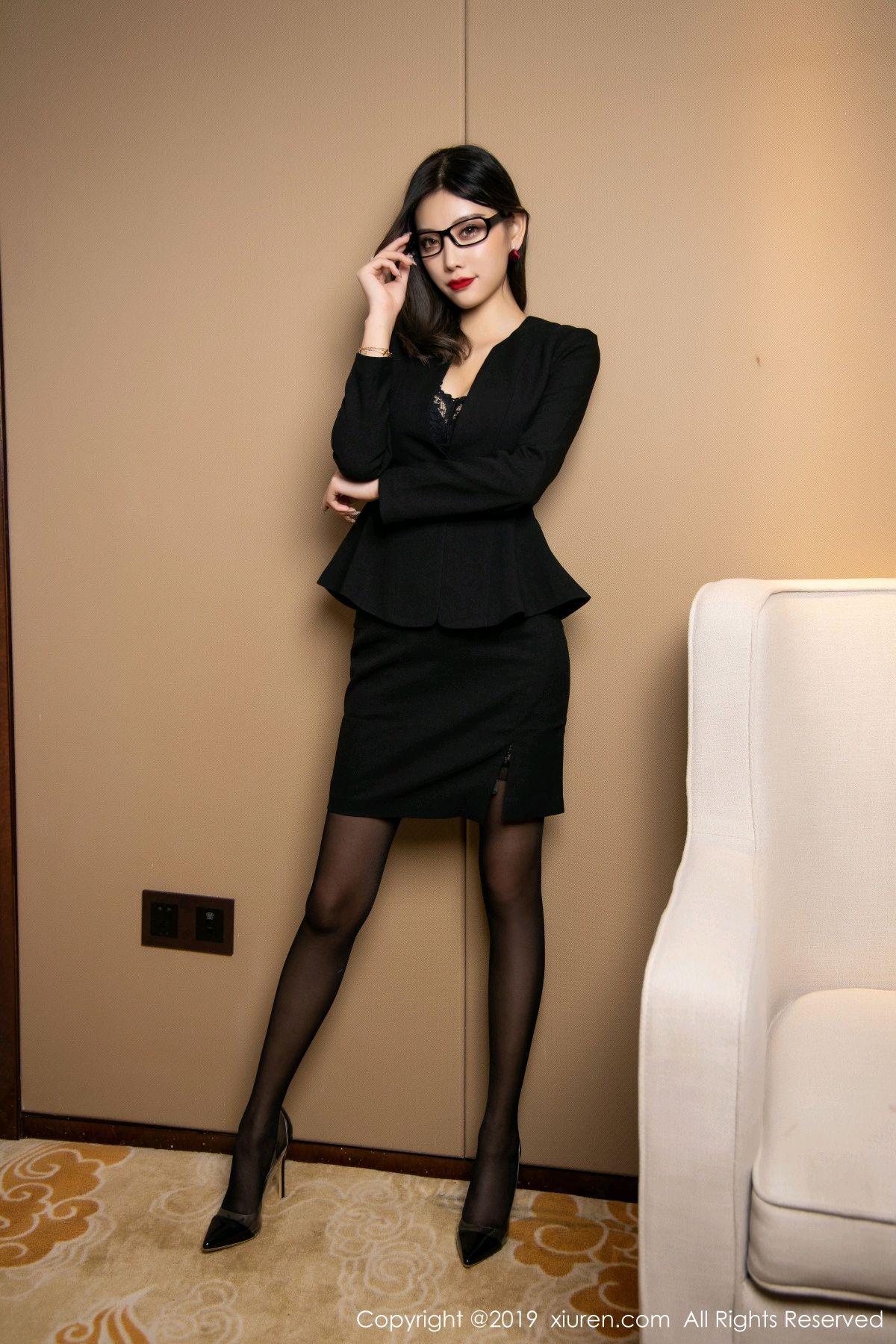 [XiuRen] Vol.1616 Yang Chen Chen 23P, Black Silk, Tall, Uniform, Xiuren, Yang Chen Chen