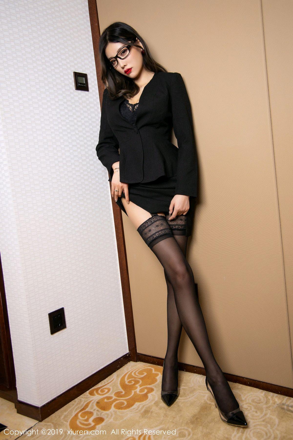 [XiuRen] Vol.1616 Yang Chen Chen 30P, Black Silk, Tall, Uniform, Xiuren, Yang Chen Chen