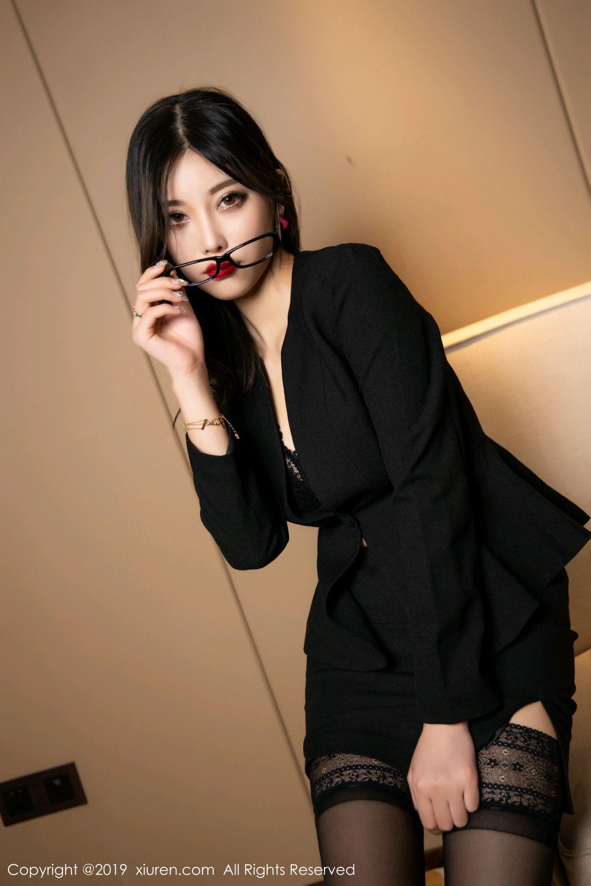 [XiuRen] Vol.1616 Yang Chen Chen 38P, Black Silk, Tall, Uniform, Xiuren, Yang Chen Chen