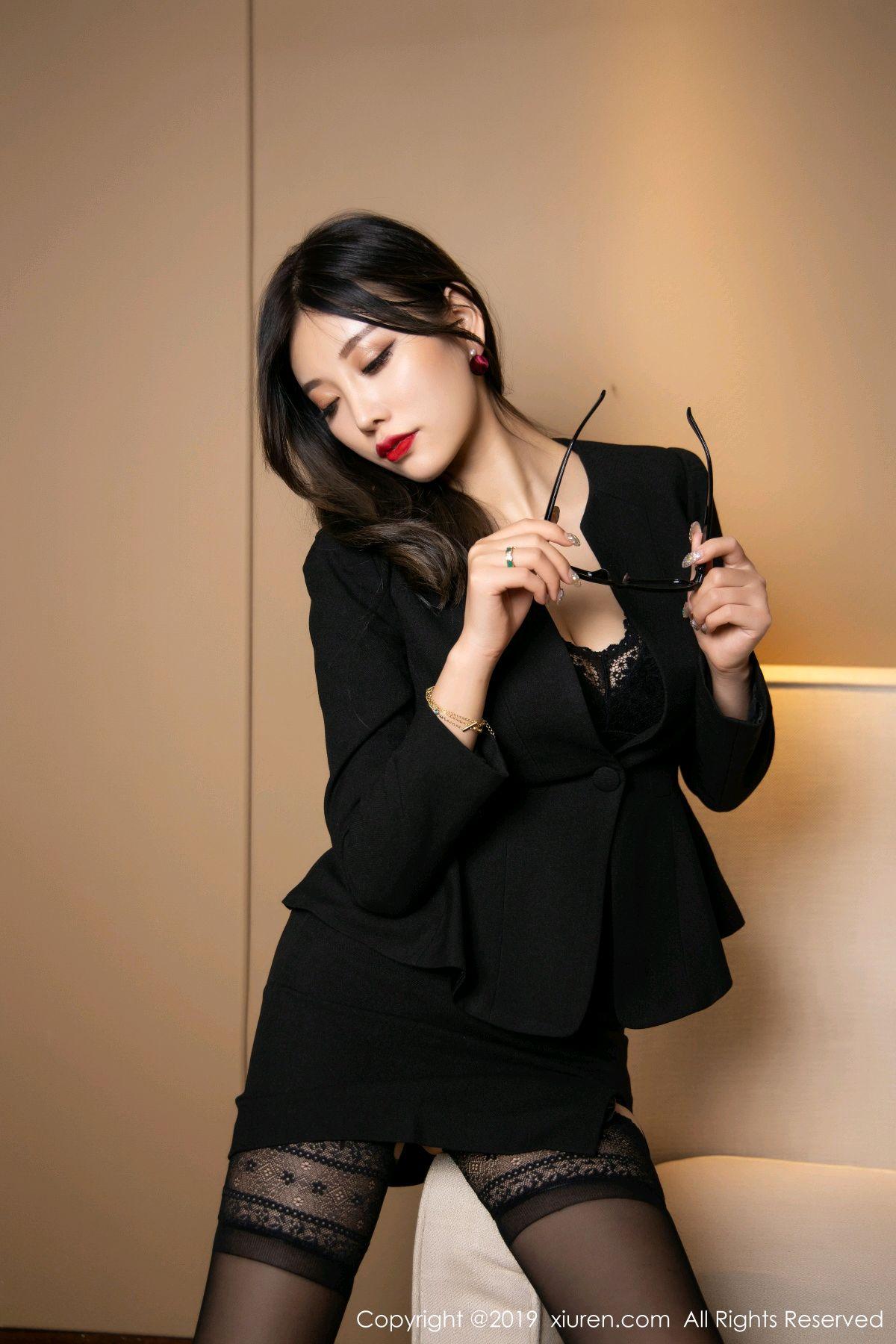 [XiuRen] Vol.1616 Yang Chen Chen 39P, Black Silk, Tall, Uniform, Xiuren, Yang Chen Chen