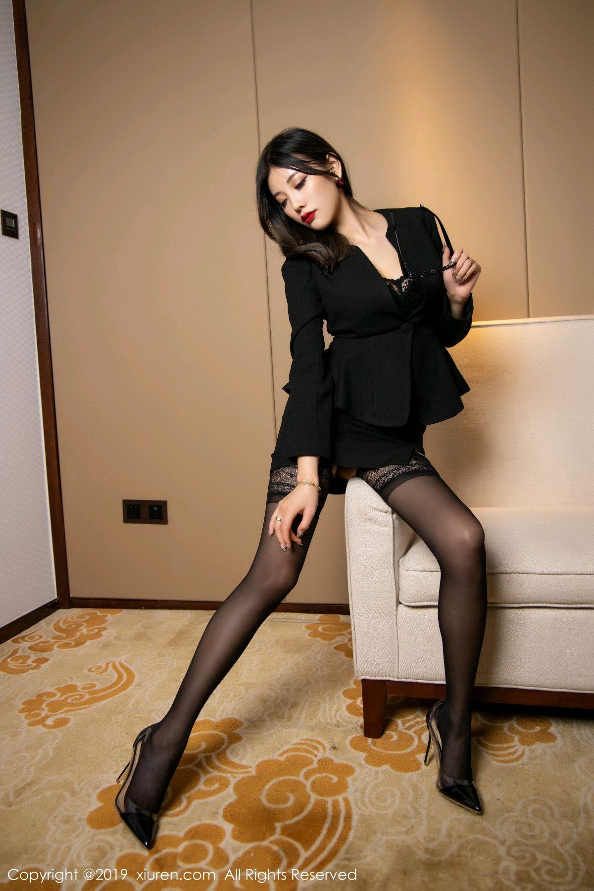 [XiuRen] Vol.1616 Yang Chen Chen 40P, Black Silk, Tall, Uniform, Xiuren, Yang Chen Chen