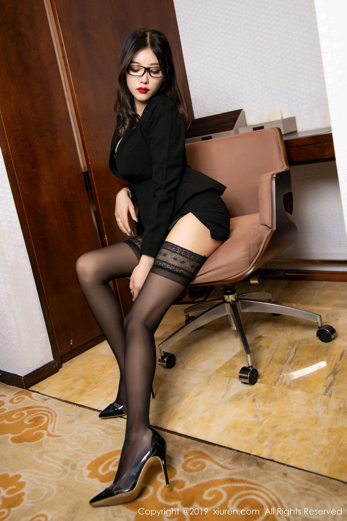 [XiuRen] Vol.1616 Yang Chen Chen 42P, Black Silk, Tall, Uniform, Xiuren, Yang Chen Chen