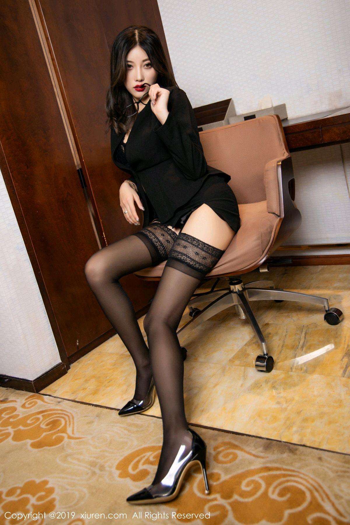 [XiuRen] Vol.1616 Yang Chen Chen 44P, Black Silk, Tall, Uniform, Xiuren, Yang Chen Chen