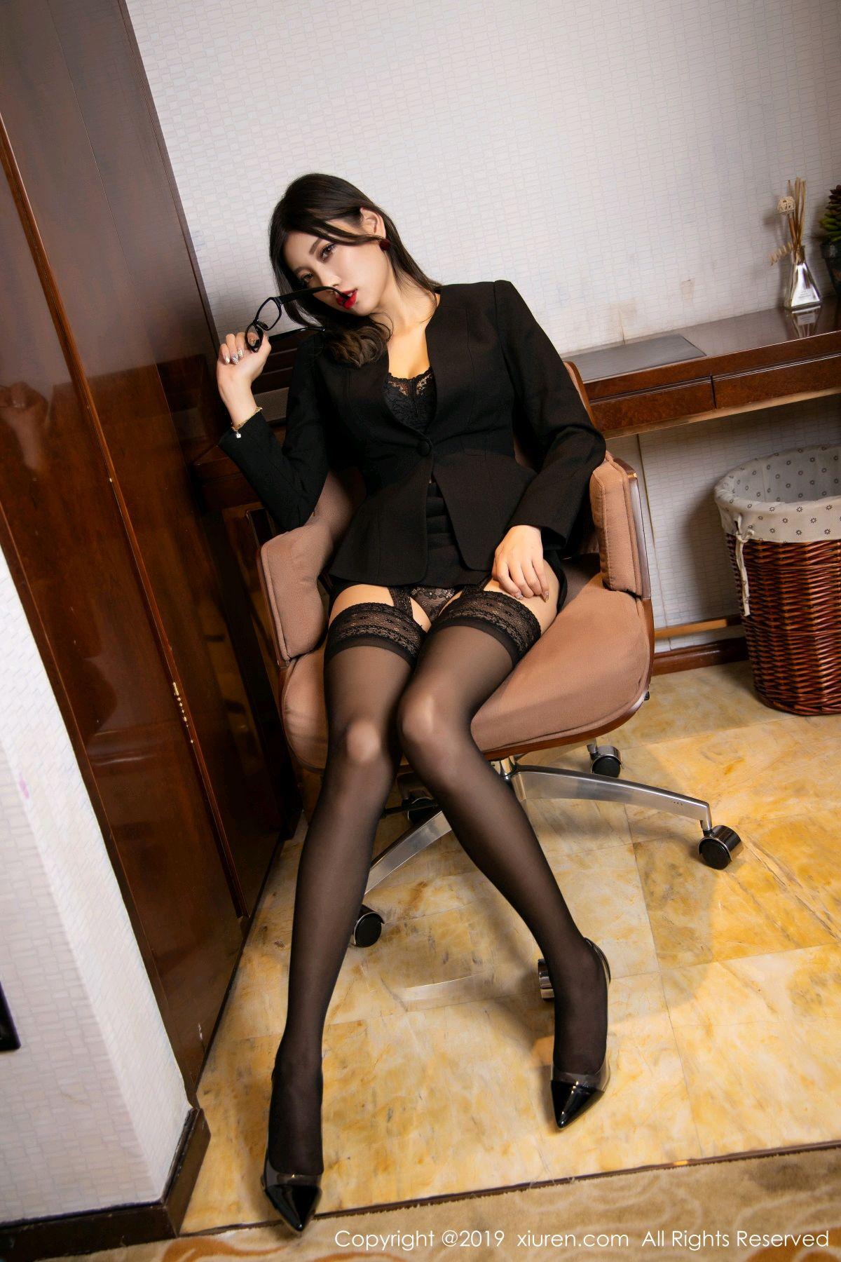 [XiuRen] Vol.1616 Yang Chen Chen 46P, Black Silk, Tall, Uniform, Xiuren, Yang Chen Chen