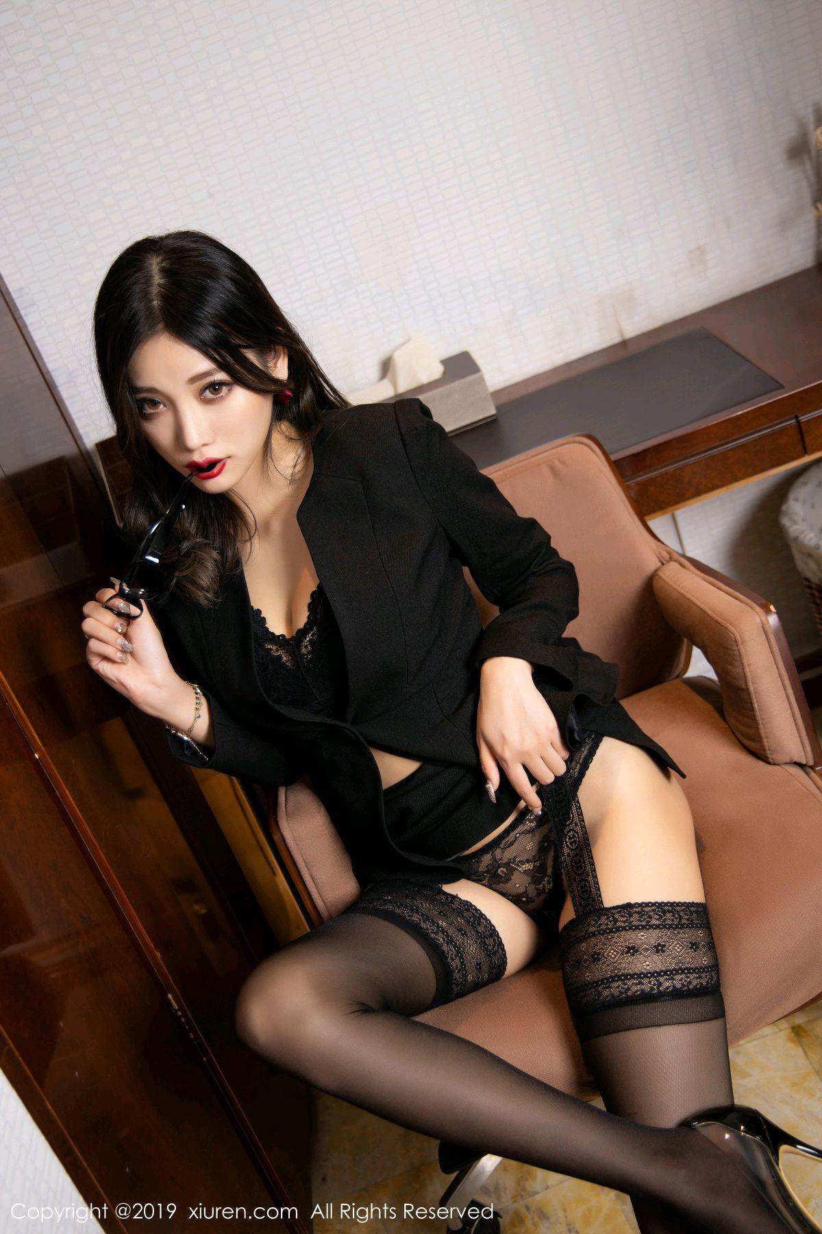 [XiuRen] Vol.1616 Yang Chen Chen 50P, Black Silk, Tall, Uniform, Xiuren, Yang Chen Chen