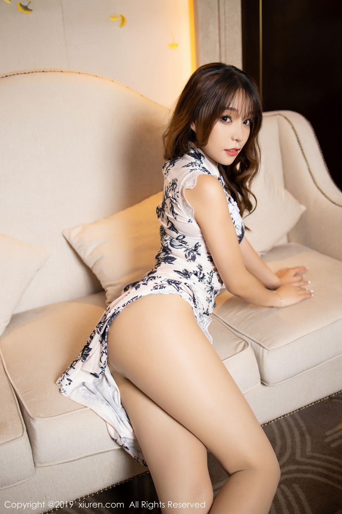 [XiuRen] Vol.1622 Chen Zhi 14P, Chen Zhi, Cheongsam, Underwear, Xiuren