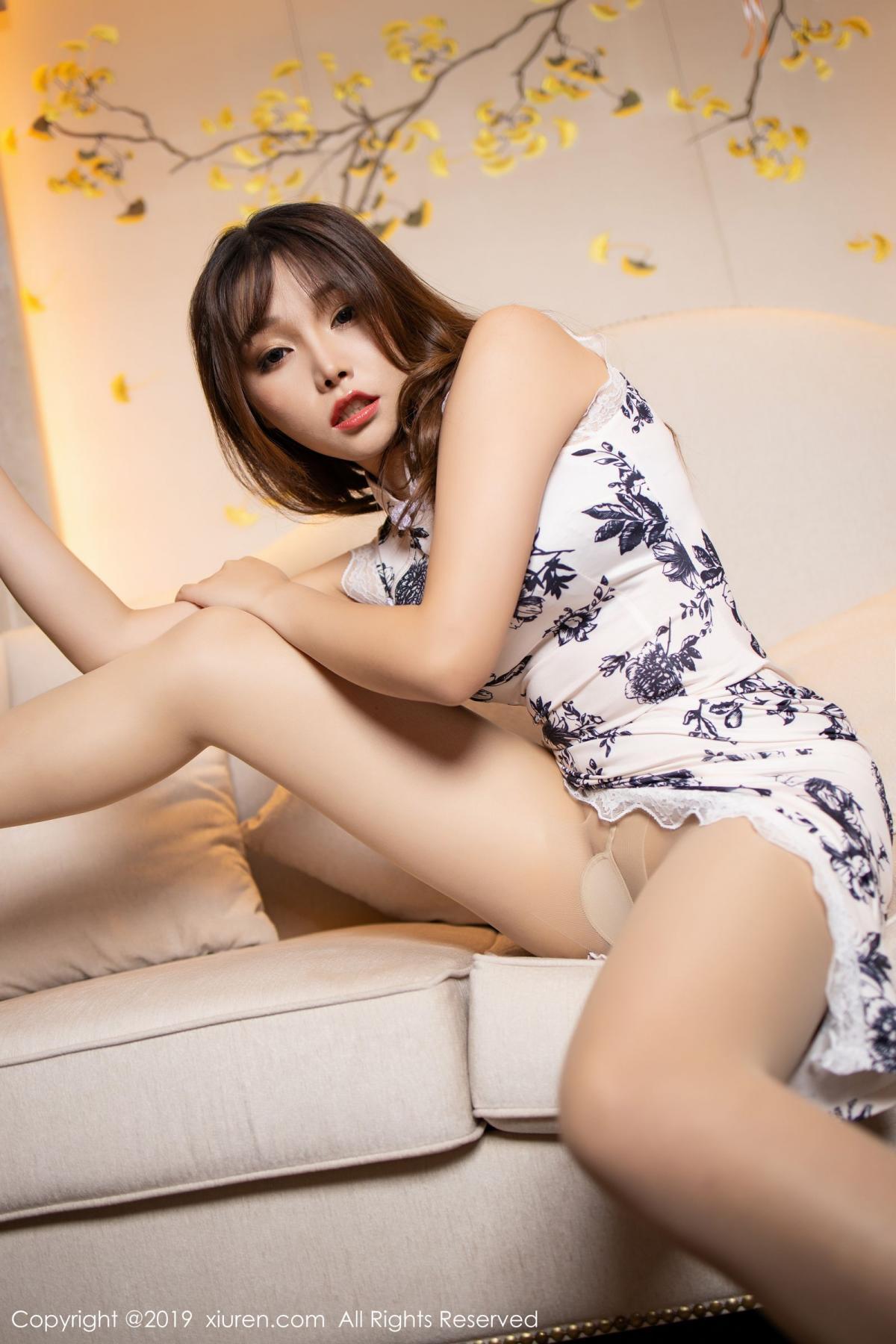 [XiuRen] Vol.1622 Chen Zhi 20P, Chen Zhi, Cheongsam, Underwear, Xiuren