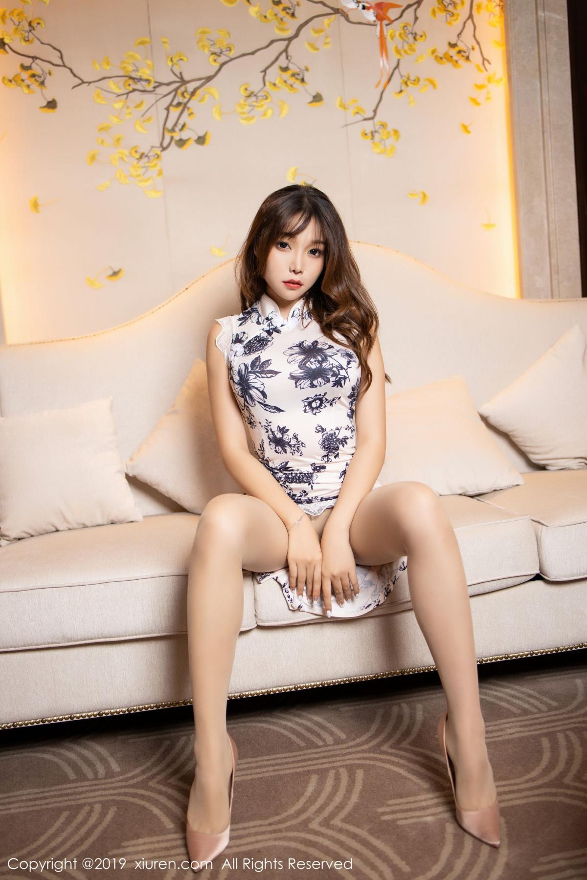 [XiuRen] Vol.1622 Chen Zhi 21P, Chen Zhi, Cheongsam, Underwear, Xiuren