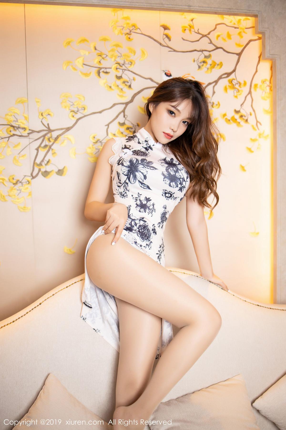 [XiuRen] Vol.1622 Chen Zhi 32P, Chen Zhi, Cheongsam, Underwear, Xiuren