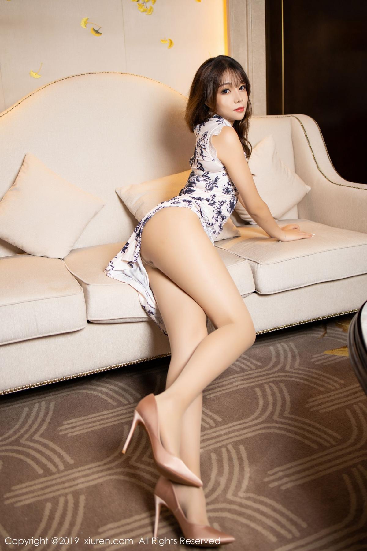 [XiuRen] Vol.1622 Chen Zhi 7P, Chen Zhi, Cheongsam, Underwear, Xiuren