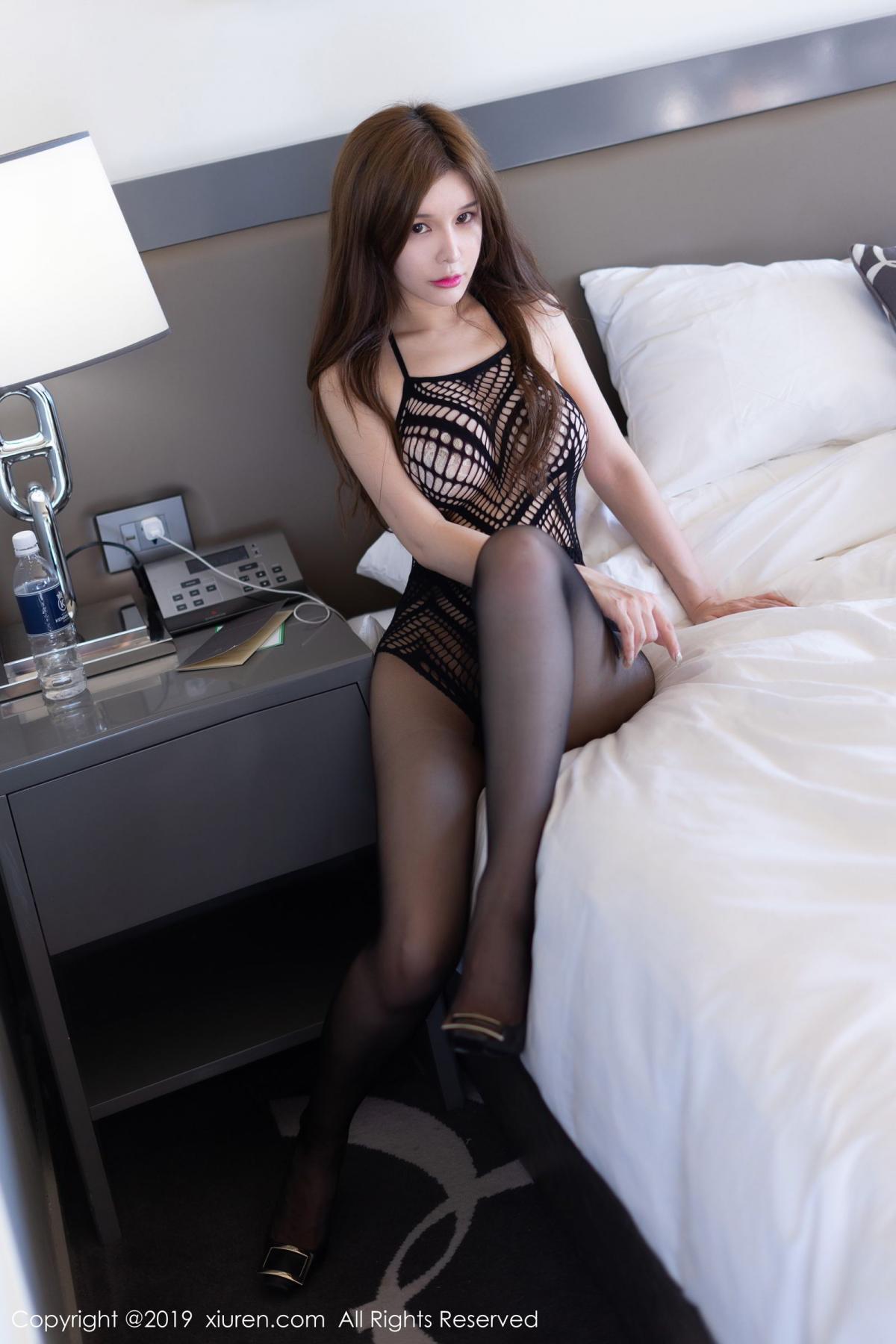 [XiuRen] Vol.1623 Chun Xiao Xi 1P, Black Silk, Chun Xiao Xi, Underwear, Xiuren