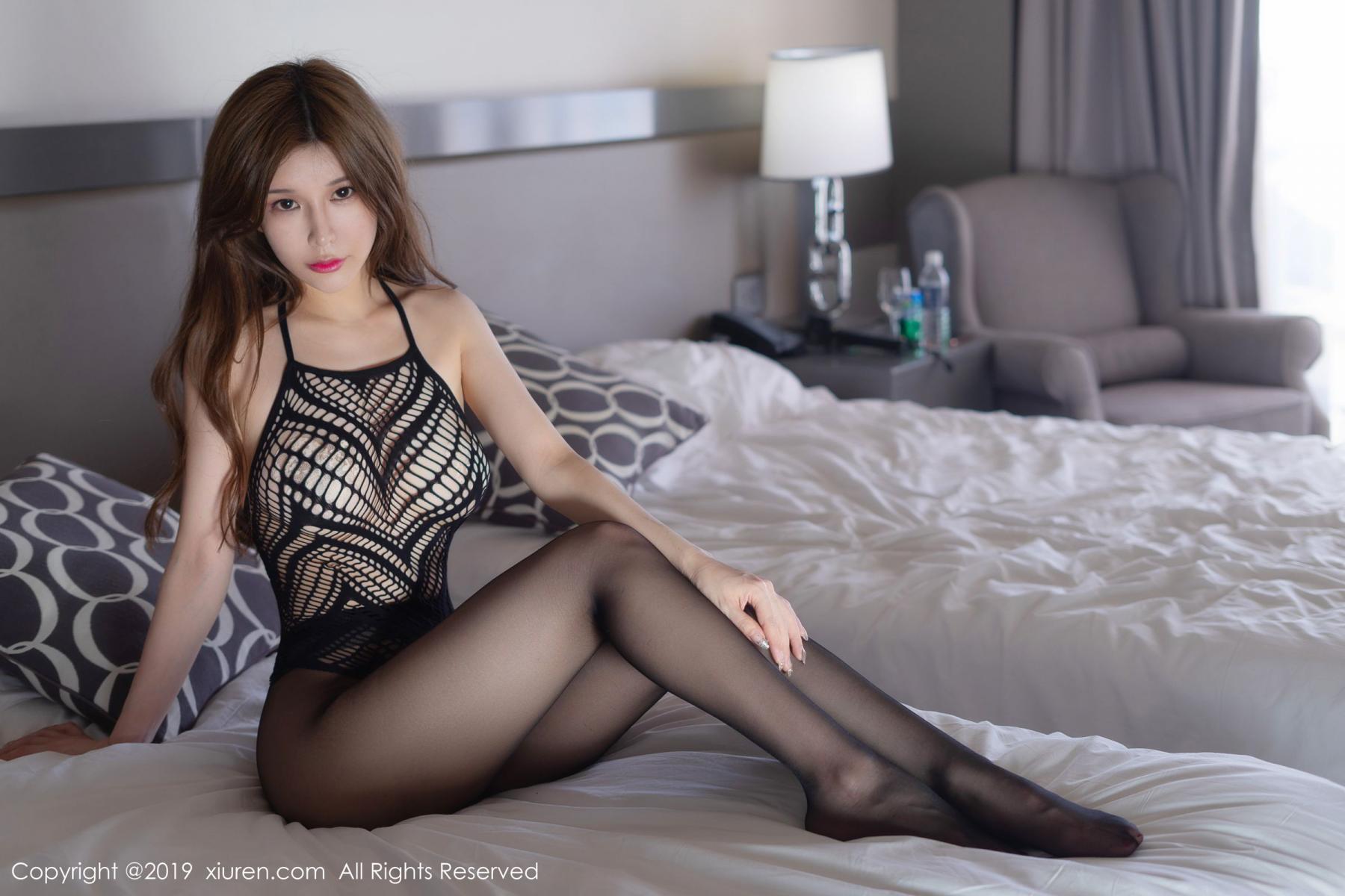 [XiuRen] Vol.1623 Chun Xiao Xi 25P, Black Silk, Chun Xiao Xi, Underwear, Xiuren