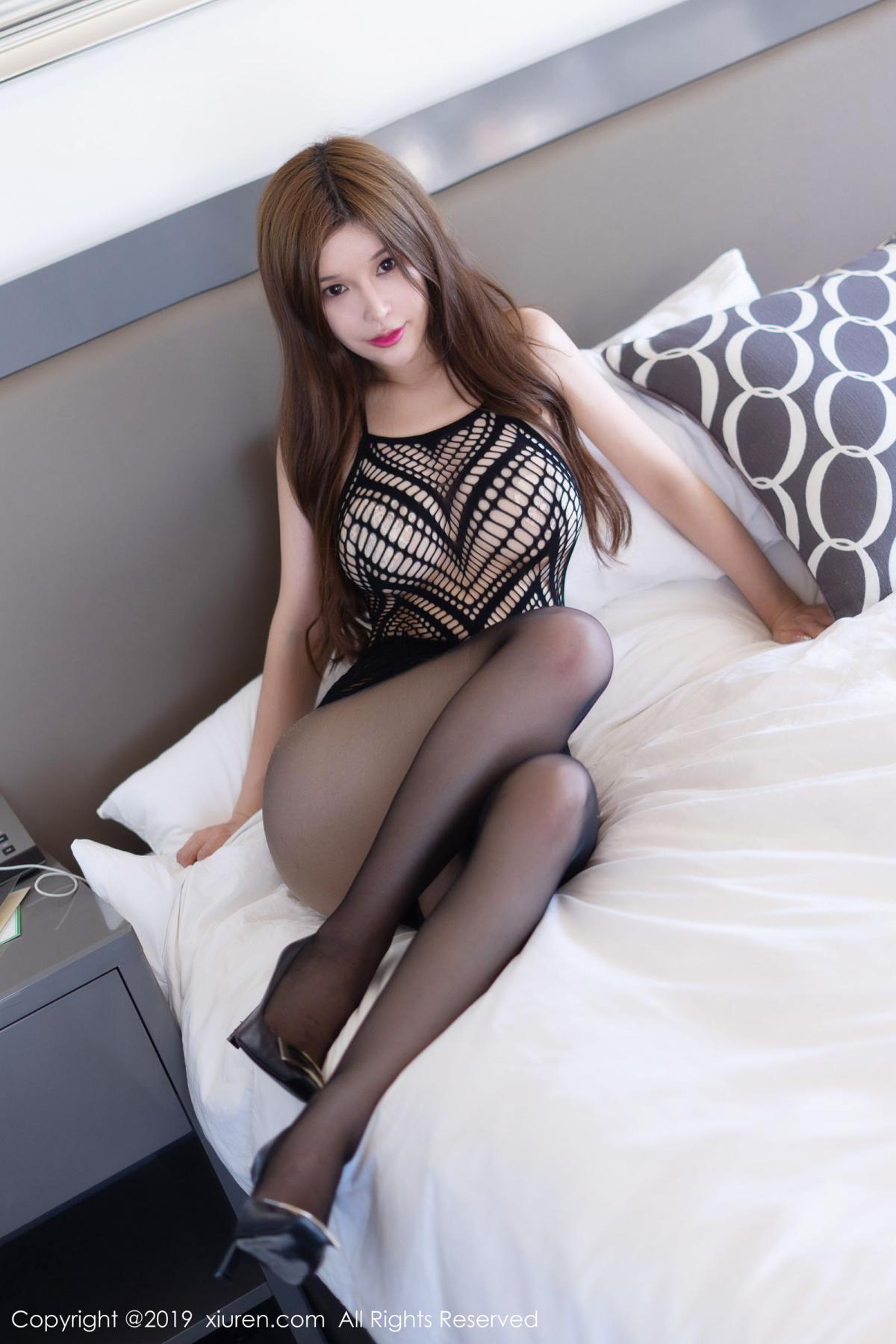 [XiuRen] Vol.1623 Chun Xiao Xi 3P, Black Silk, Chun Xiao Xi, Underwear, Xiuren