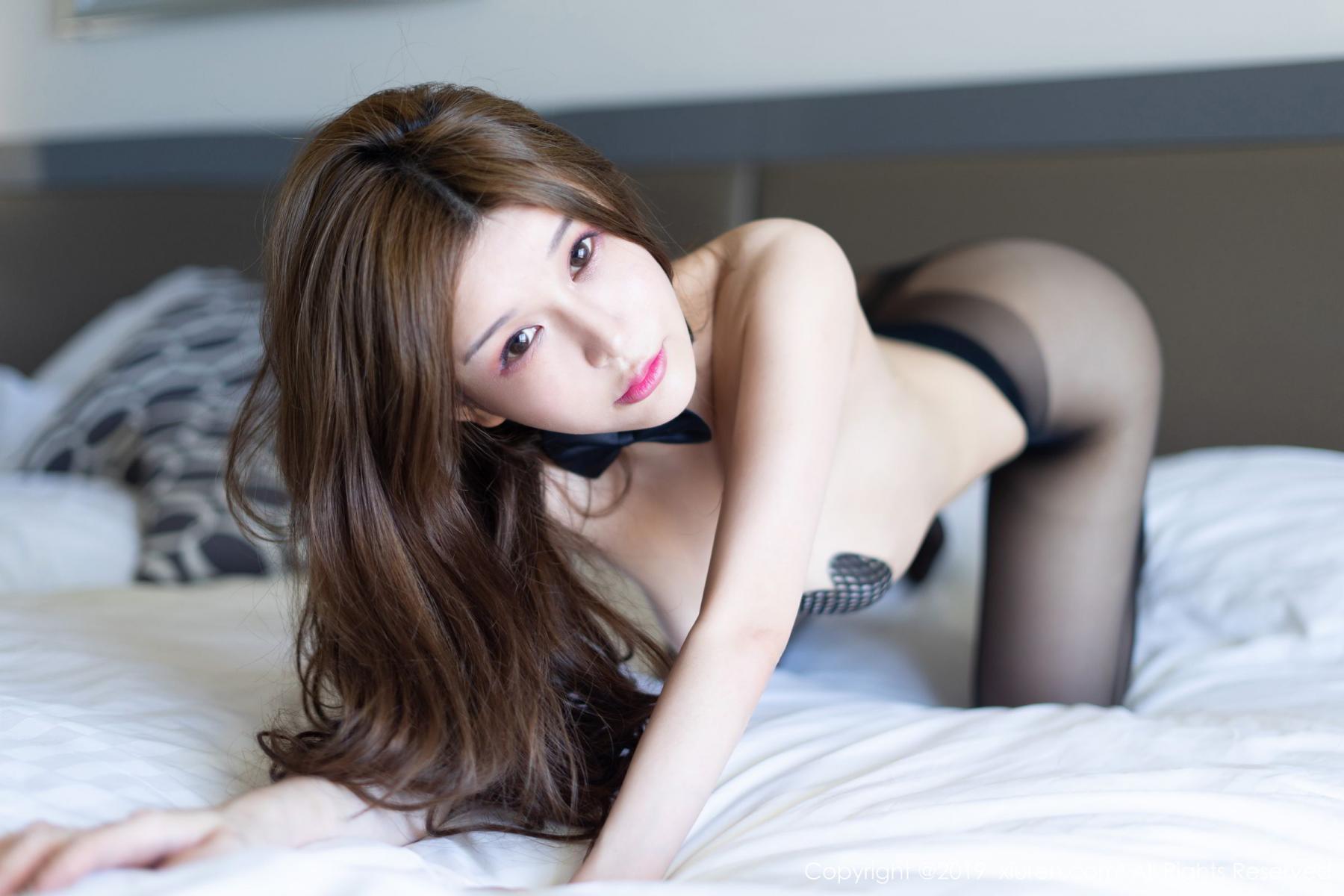 [XiuRen] Vol.1623 Chun Xiao Xi 41P, Black Silk, Chun Xiao Xi, Underwear, Xiuren