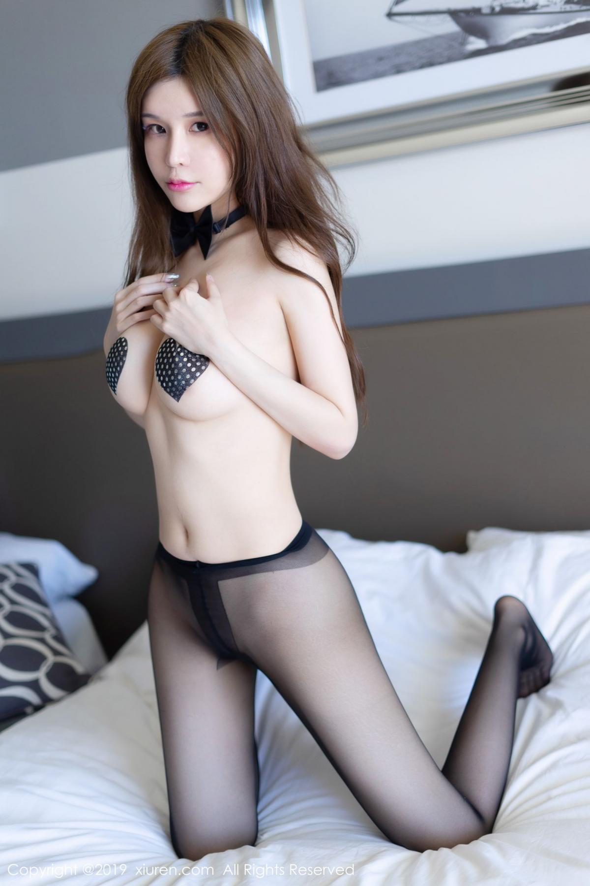 [XiuRen] Vol.1623 Chun Xiao Xi 43P, Black Silk, Chun Xiao Xi, Underwear, Xiuren