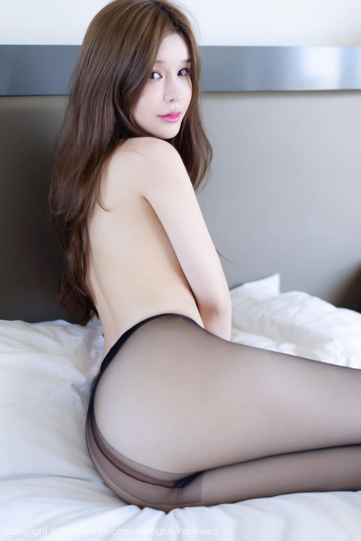 [XiuRen] Vol.1623 Chun Xiao Xi 49P, Black Silk, Chun Xiao Xi, Underwear, Xiuren