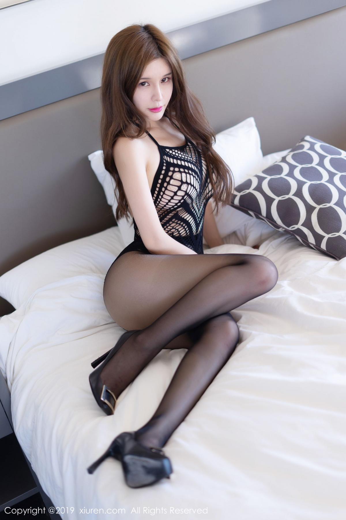 [XiuRen] Vol.1623 Chun Xiao Xi 4P, Black Silk, Chun Xiao Xi, Underwear, Xiuren