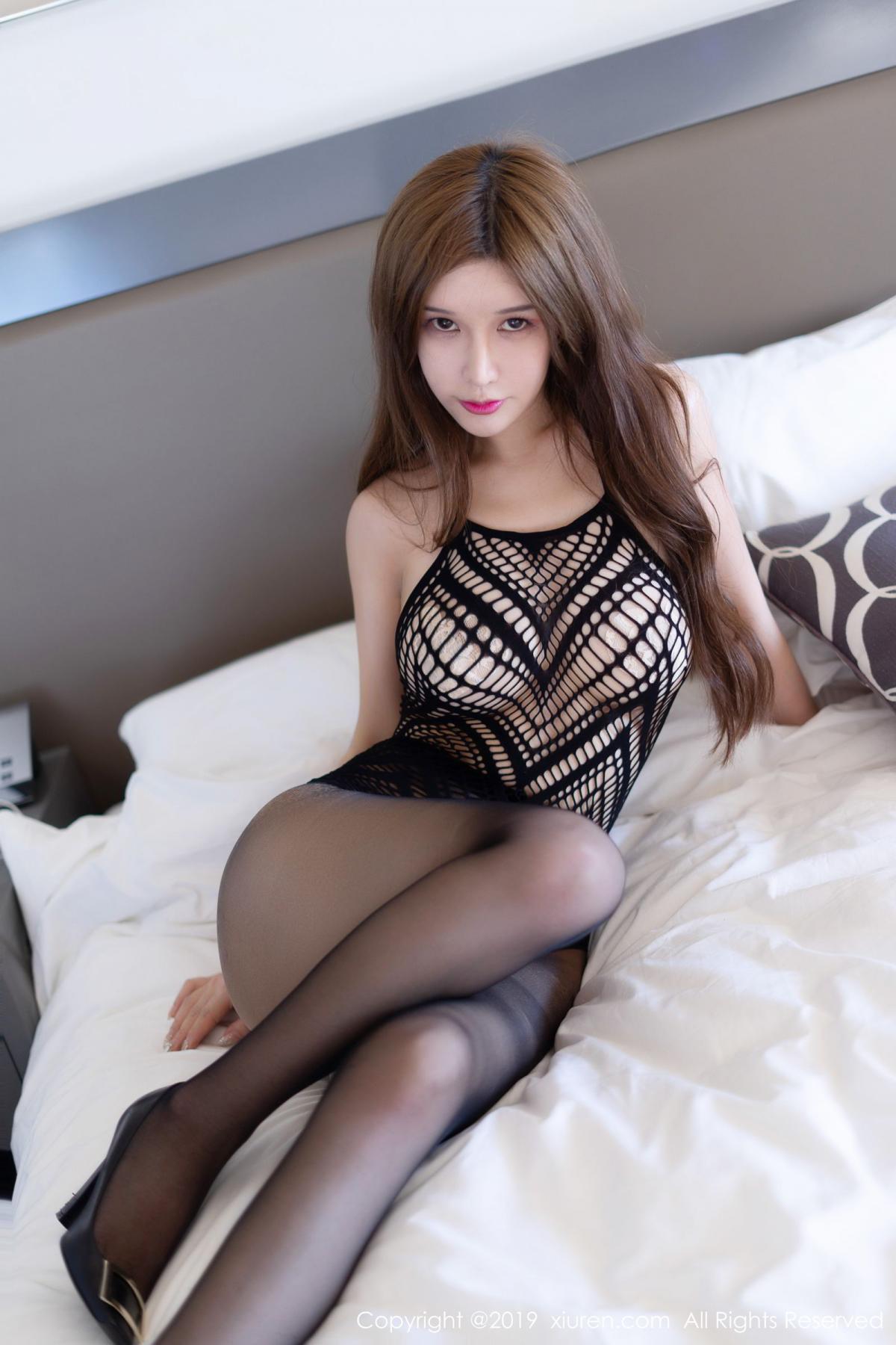 [XiuRen] Vol.1623 Chun Xiao Xi 6P, Black Silk, Chun Xiao Xi, Underwear, Xiuren