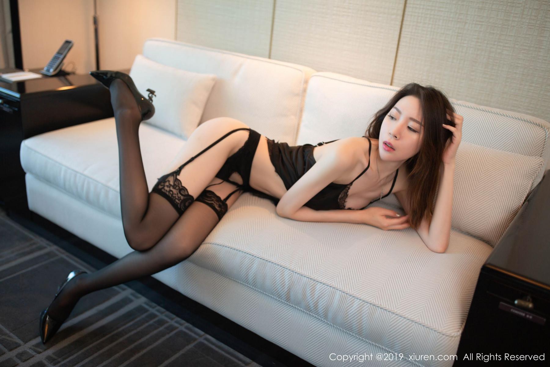 [XiuRen] Vol.1628 Meng Xin Yue 17P, Black Silk, Meng Xin Yue, Xiuren