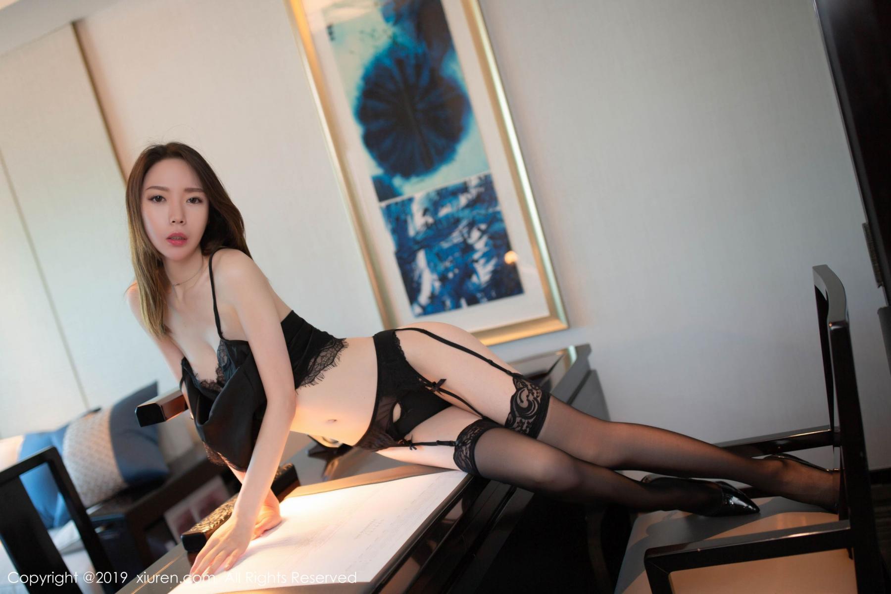 [XiuRen] Vol.1628 Meng Xin Yue 44P, Black Silk, Meng Xin Yue, Xiuren