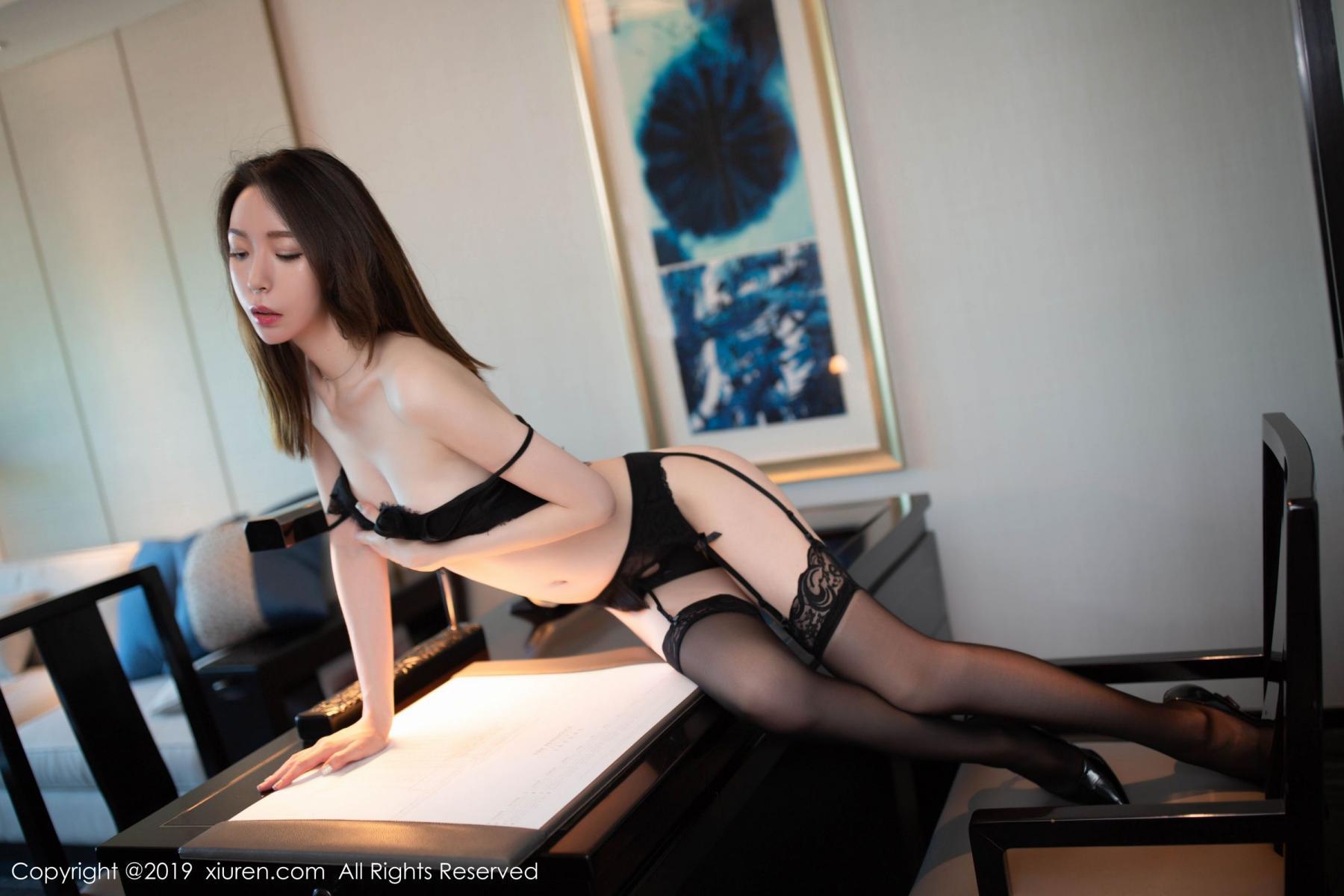 [XiuRen] Vol.1628 Meng Xin Yue 48P, Black Silk, Meng Xin Yue, Xiuren