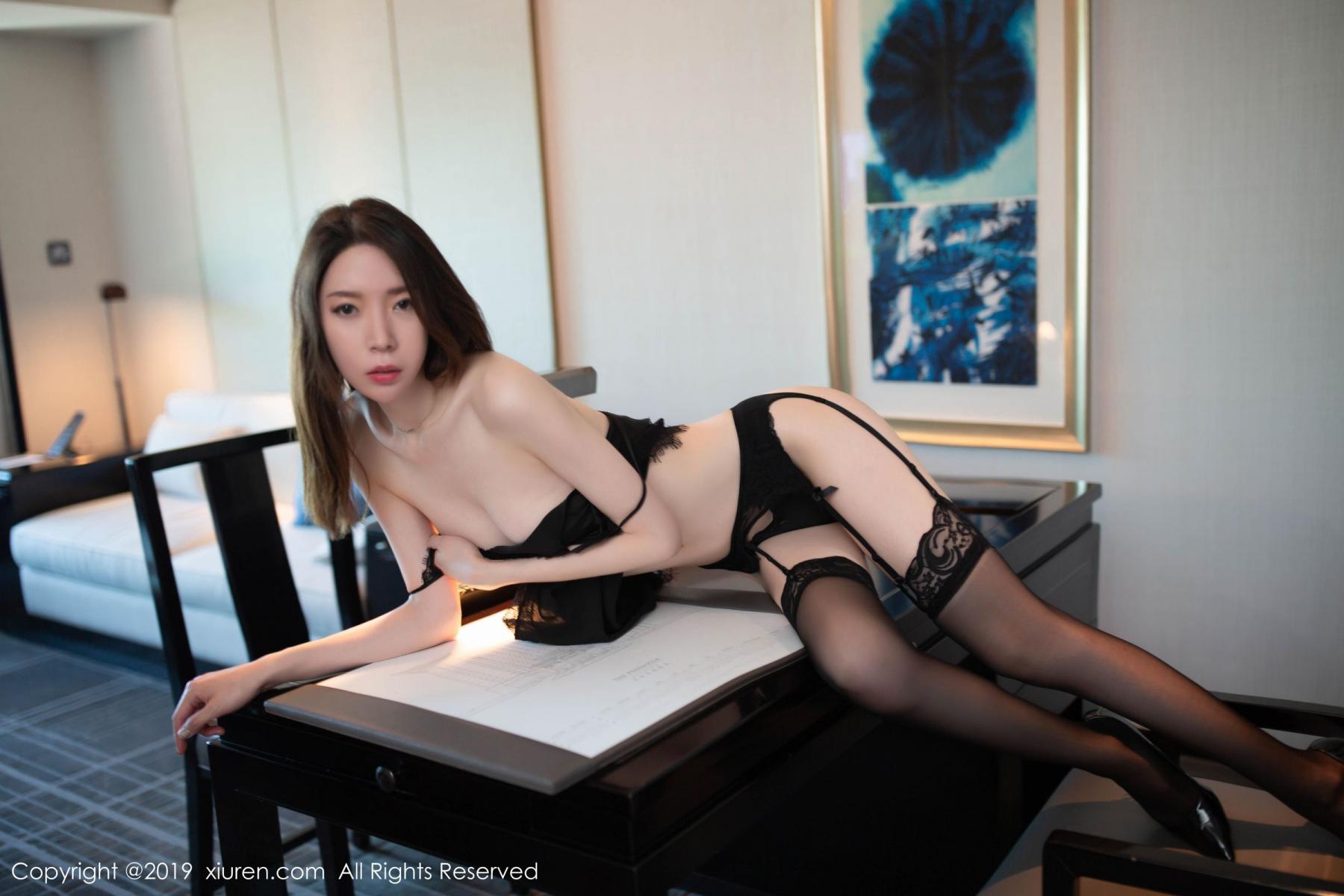 [XiuRen] Vol.1628 Meng Xin Yue 49P, Black Silk, Meng Xin Yue, Xiuren