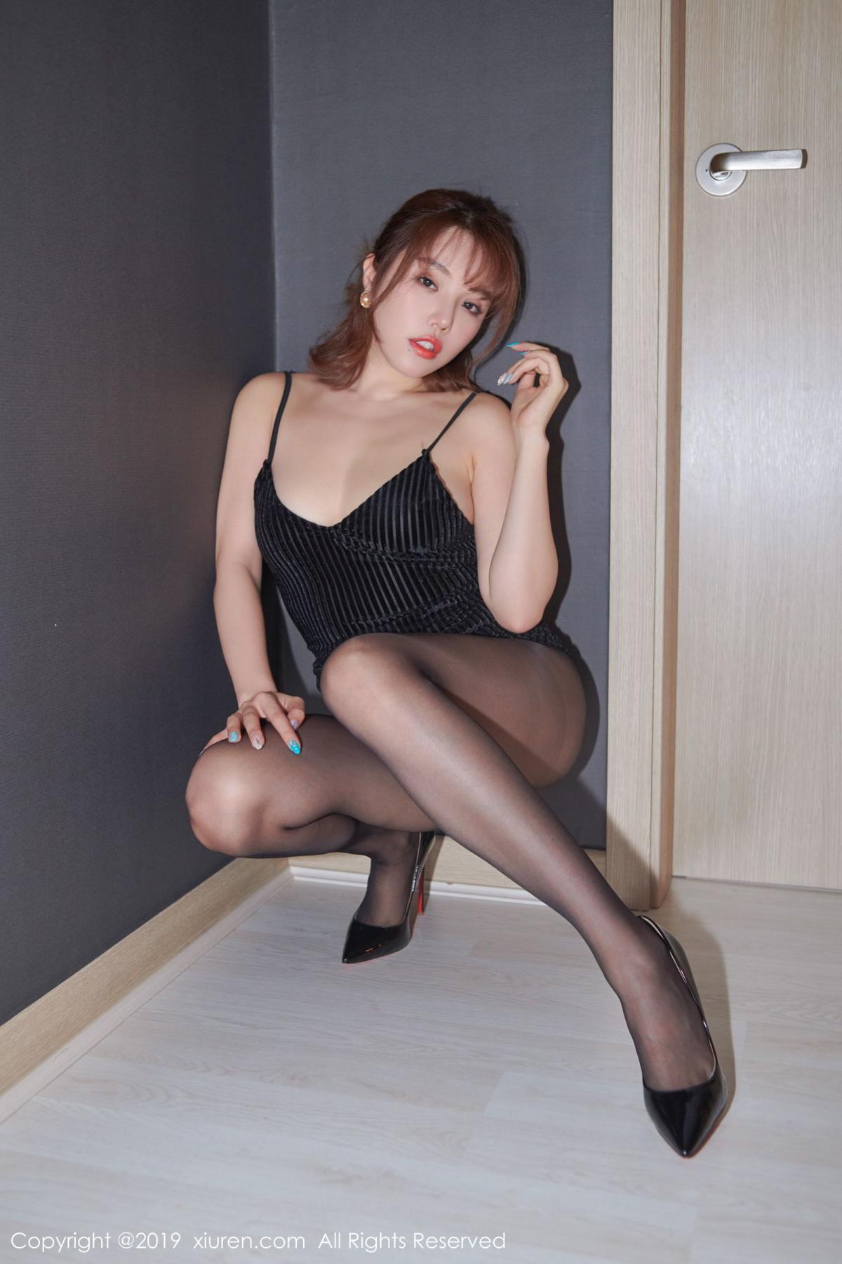 [XiuRen] Vol.1630 Huang Le Ran 10P, Black Silk, Huang Le Ran, Underwear, Xiuren