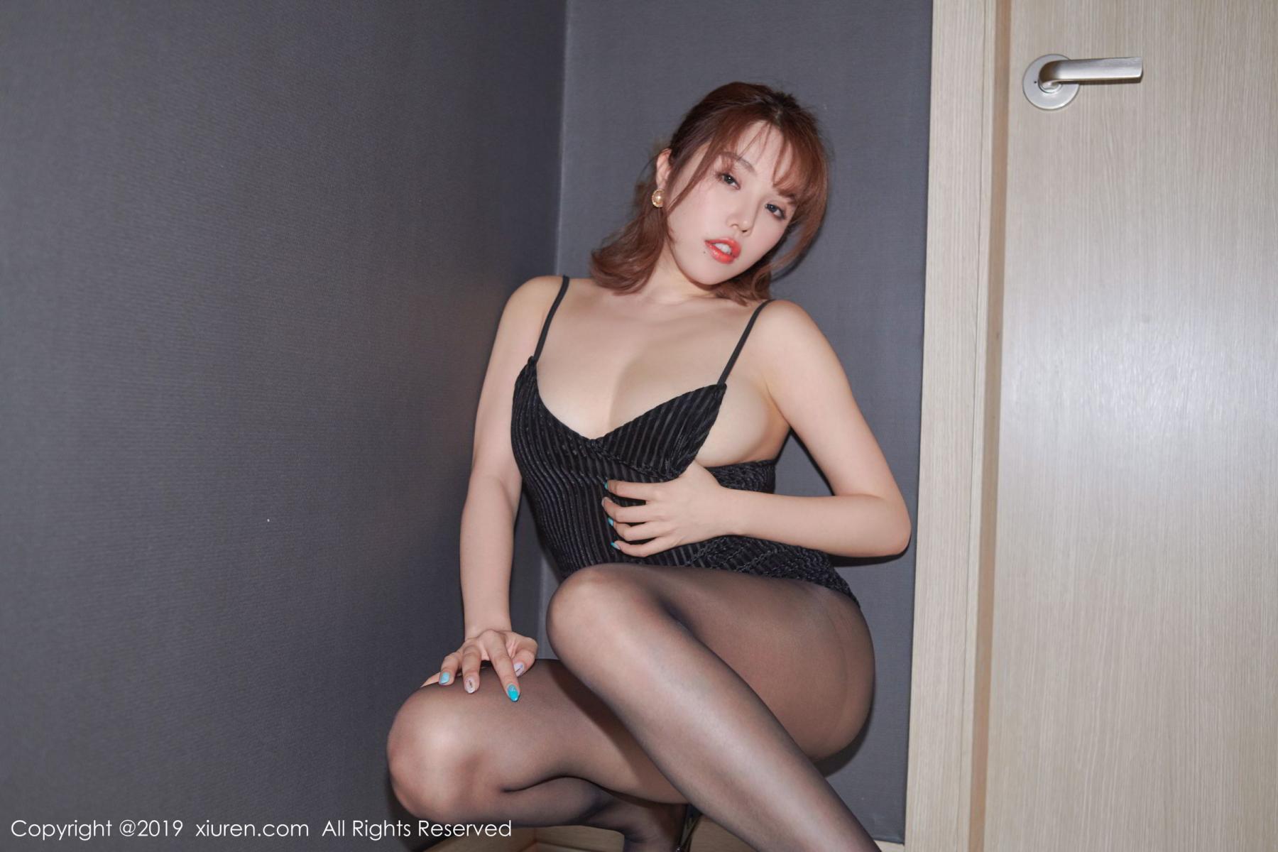 [XiuRen] Vol.1630 Huang Le Ran 11P, Black Silk, Huang Le Ran, Underwear, Xiuren