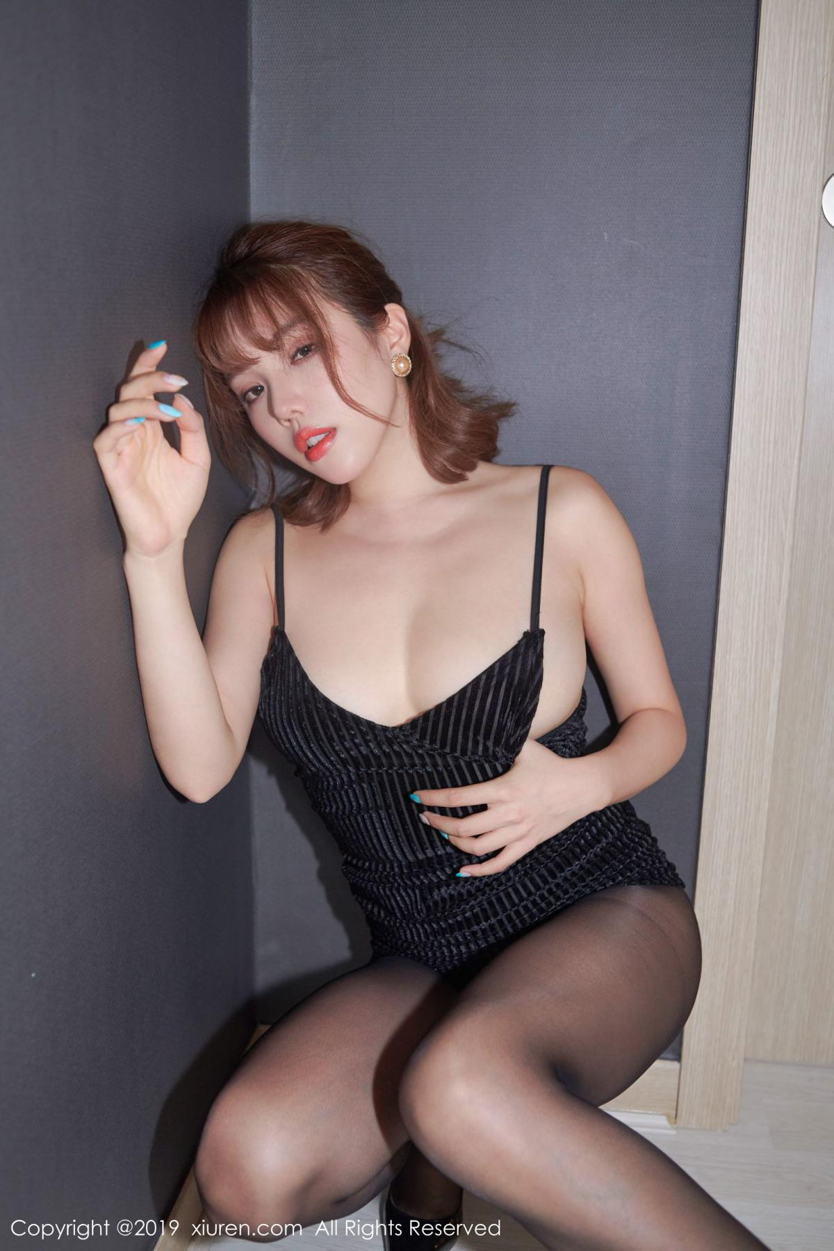 [XiuRen] Vol.1630 Huang Le Ran 12P, Black Silk, Huang Le Ran, Underwear, Xiuren