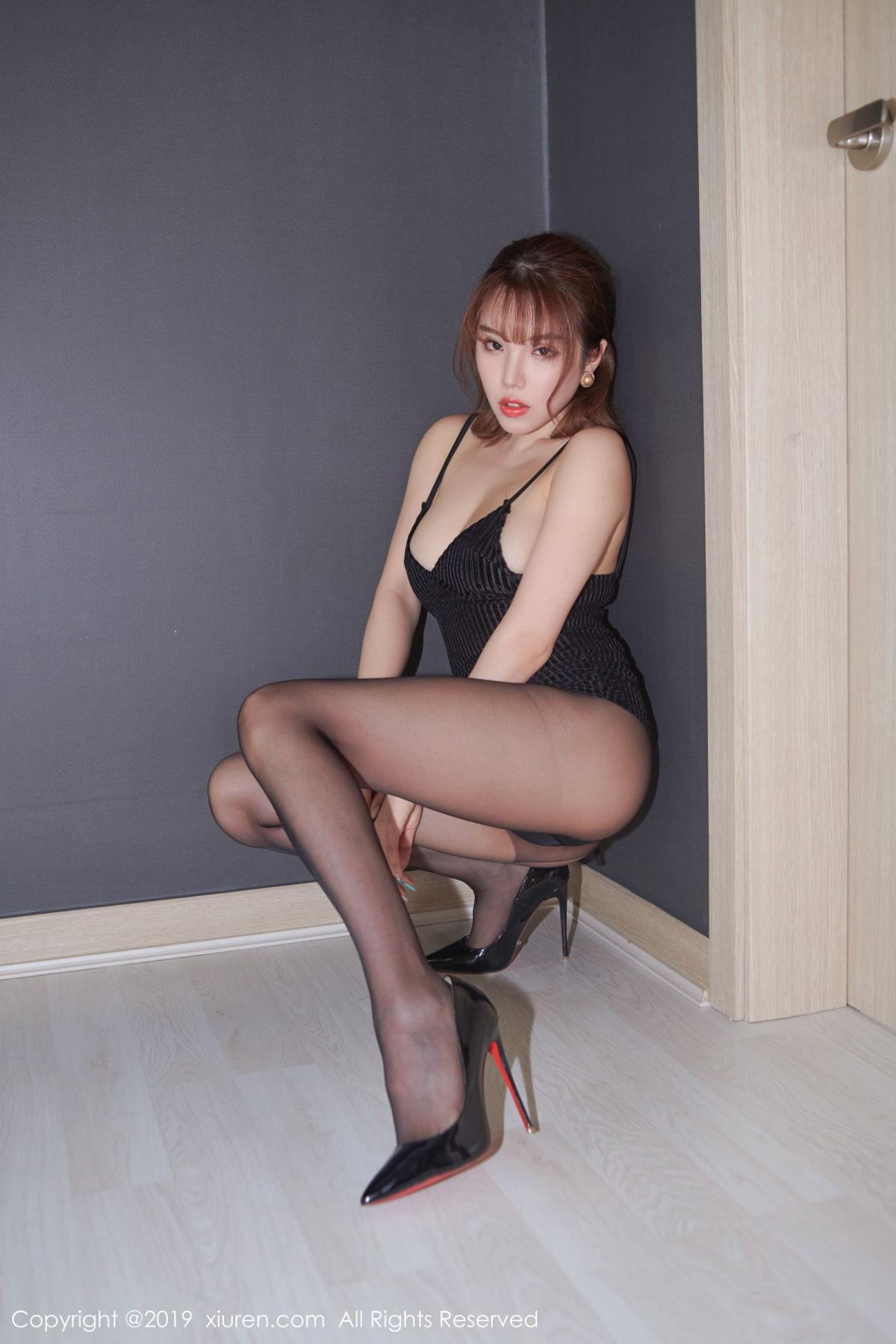 [XiuRen] Vol.1630 Huang Le Ran 13P, Black Silk, Huang Le Ran, Underwear, Xiuren
