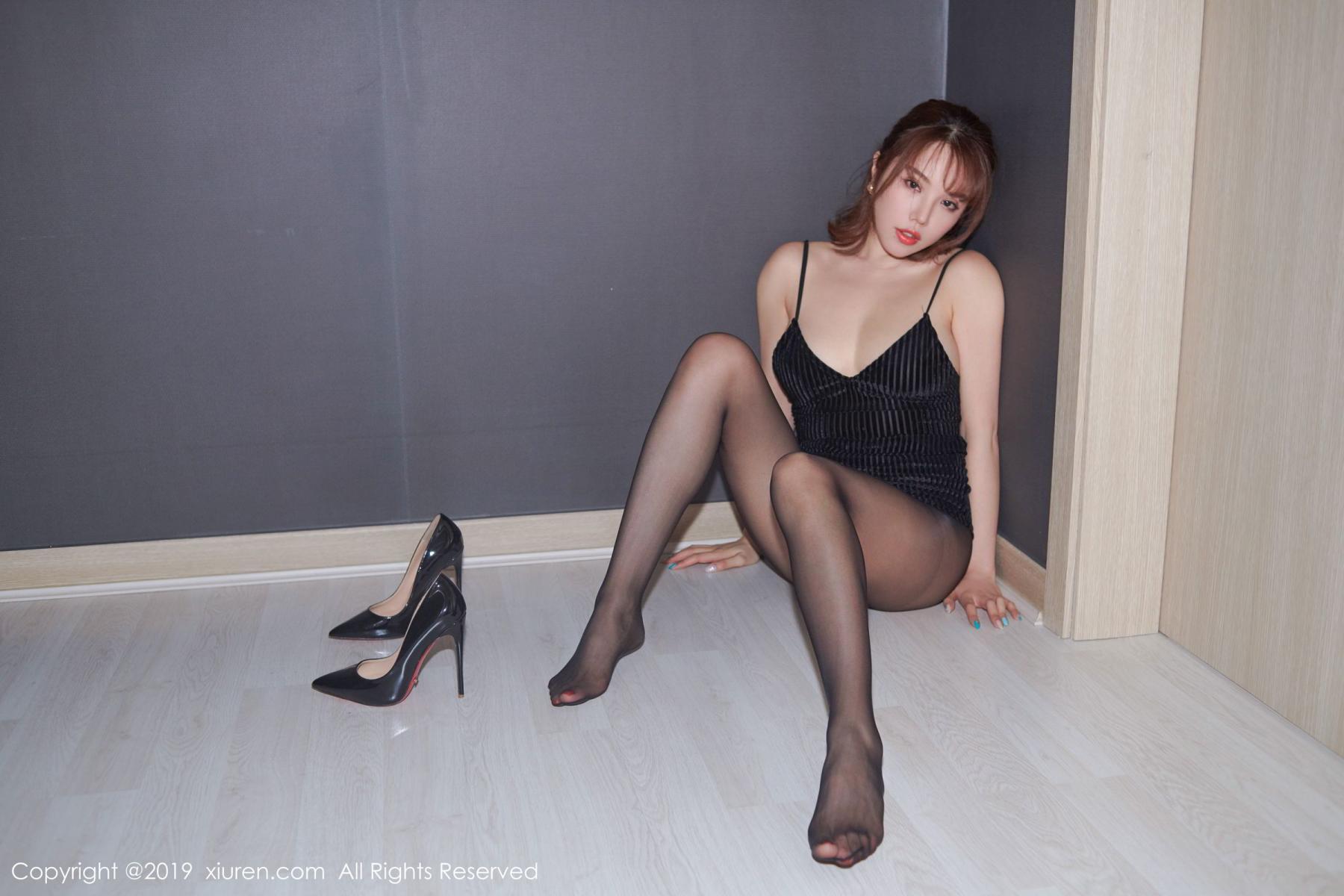 [XiuRen] Vol.1630 Huang Le Ran 14P, Black Silk, Huang Le Ran, Underwear, Xiuren