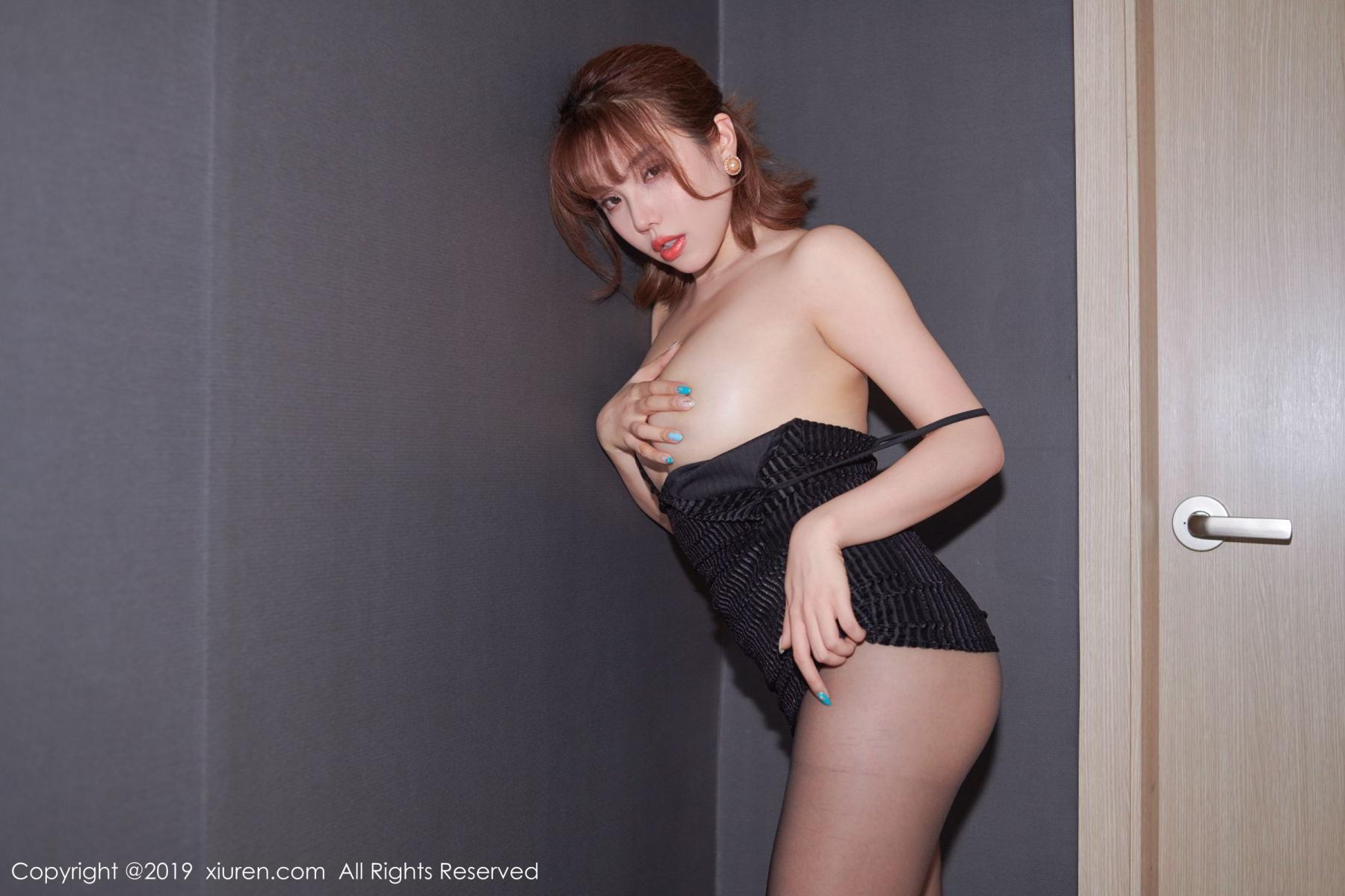 [XiuRen] Vol.1630 Huang Le Ran 17P, Black Silk, Huang Le Ran, Underwear, Xiuren