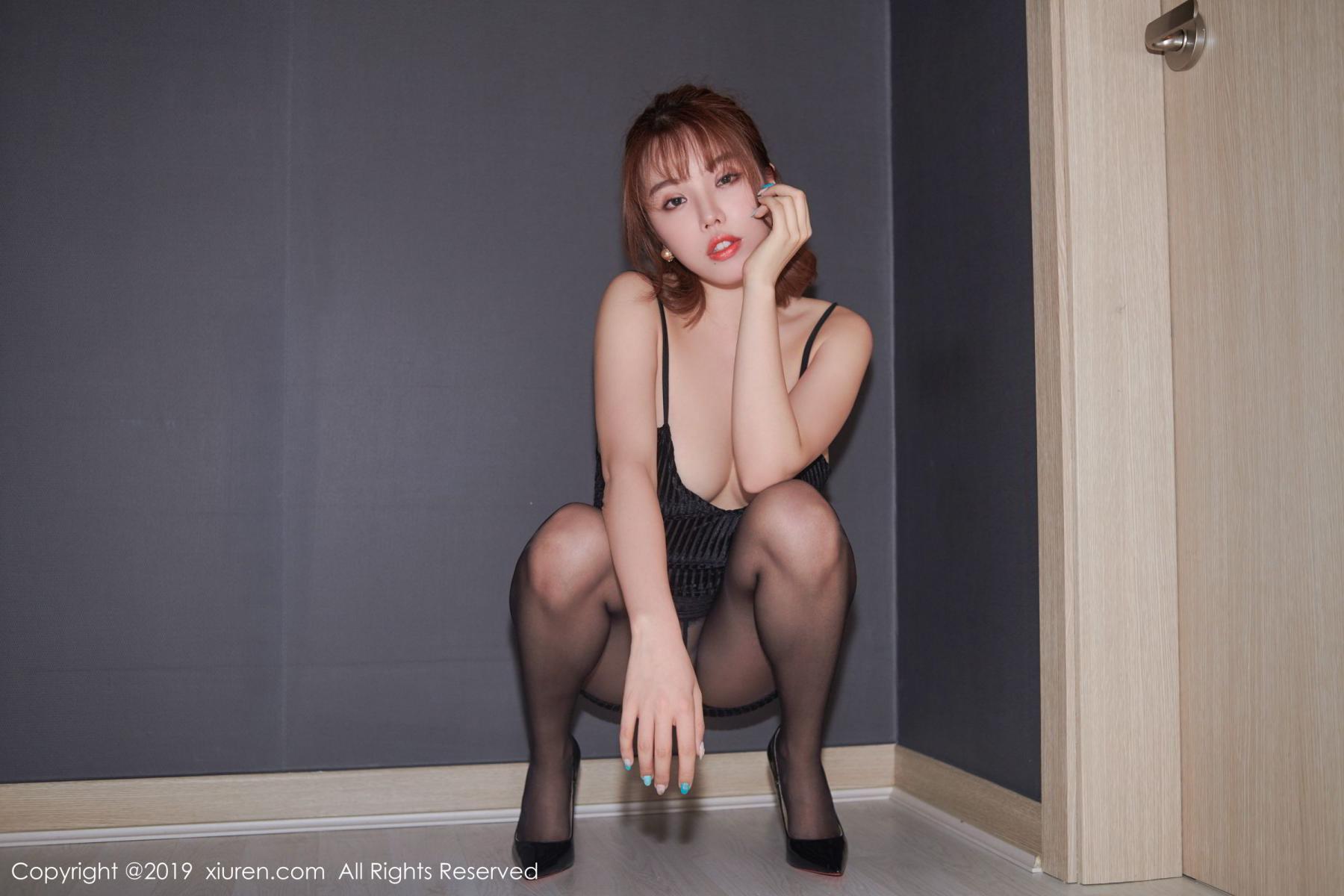 [XiuRen] Vol.1630 Huang Le Ran 21P, Black Silk, Huang Le Ran, Underwear, Xiuren