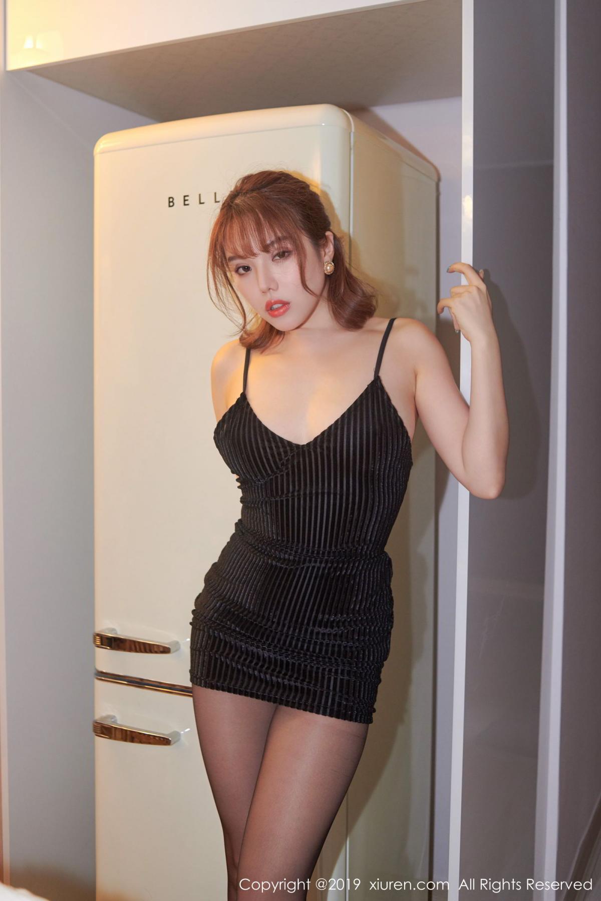[XiuRen] Vol.1630 Huang Le Ran 22P, Black Silk, Huang Le Ran, Underwear, Xiuren