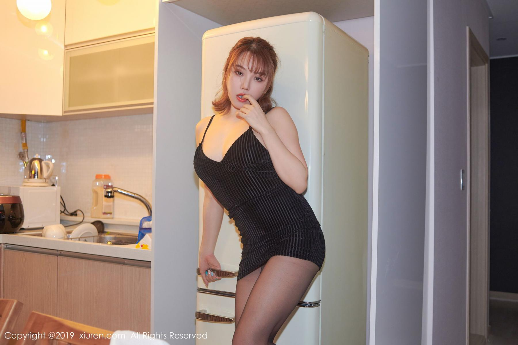 [XiuRen] Vol.1630 Huang Le Ran 23P, Black Silk, Huang Le Ran, Underwear, Xiuren