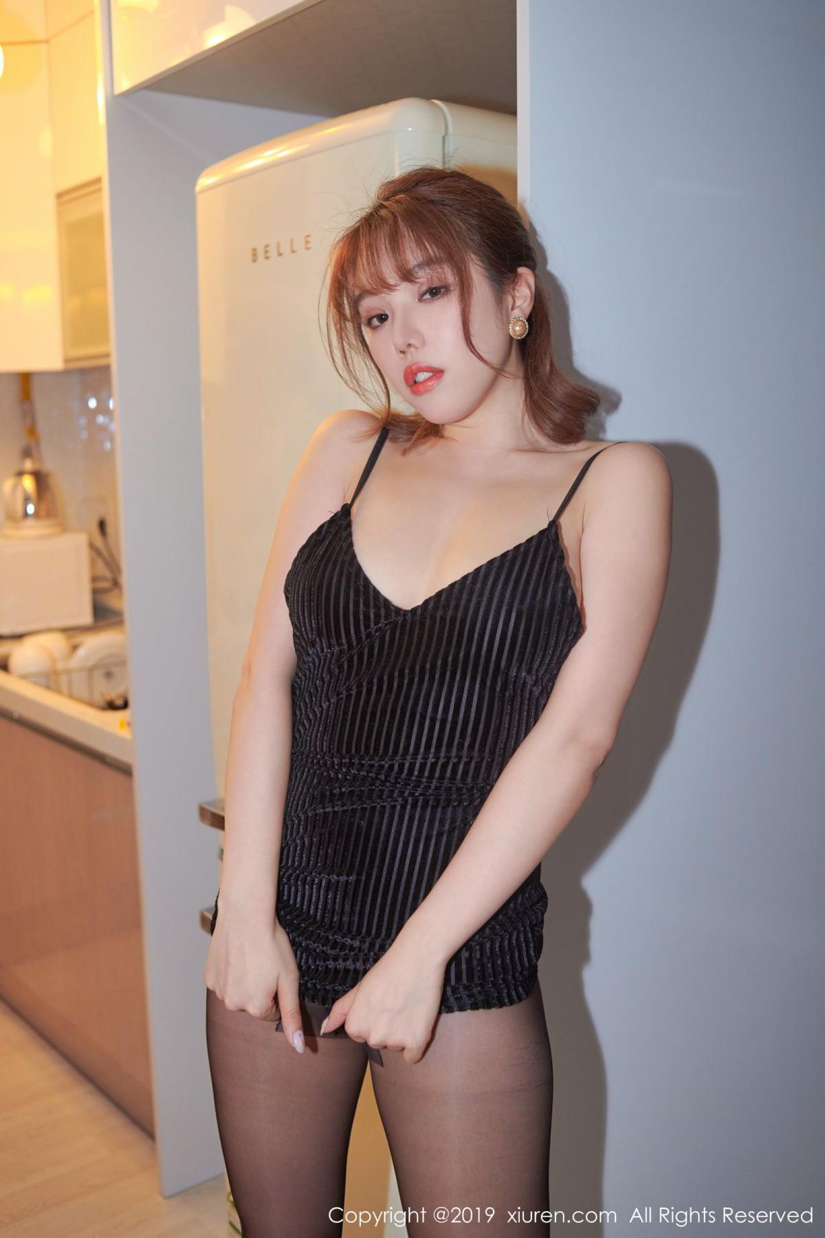 [XiuRen] Vol.1630 Huang Le Ran 24P, Black Silk, Huang Le Ran, Underwear, Xiuren