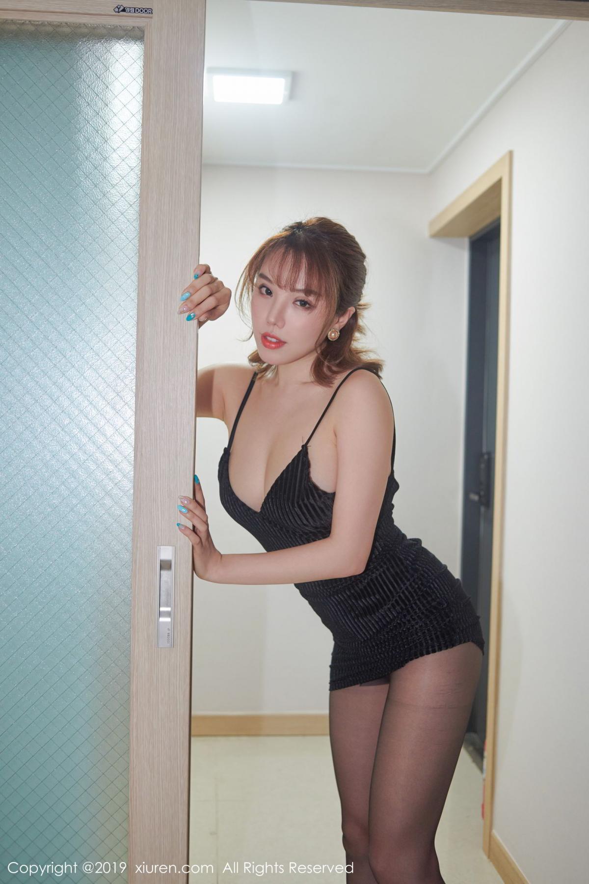 [XiuRen] Vol.1630 Huang Le Ran 2P, Black Silk, Huang Le Ran, Underwear, Xiuren